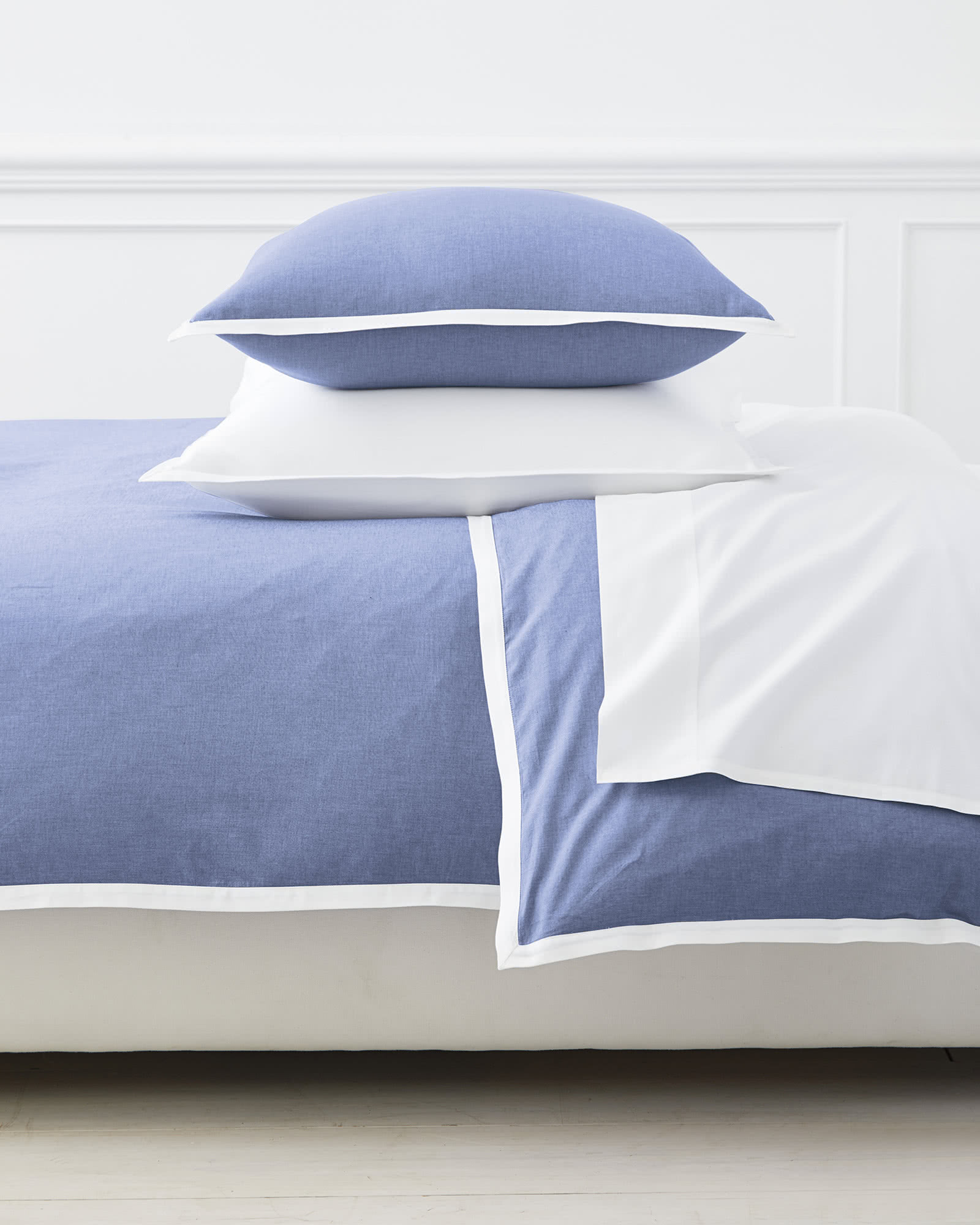 Wainscott Oxford Weave Duvet Cover, Chambray