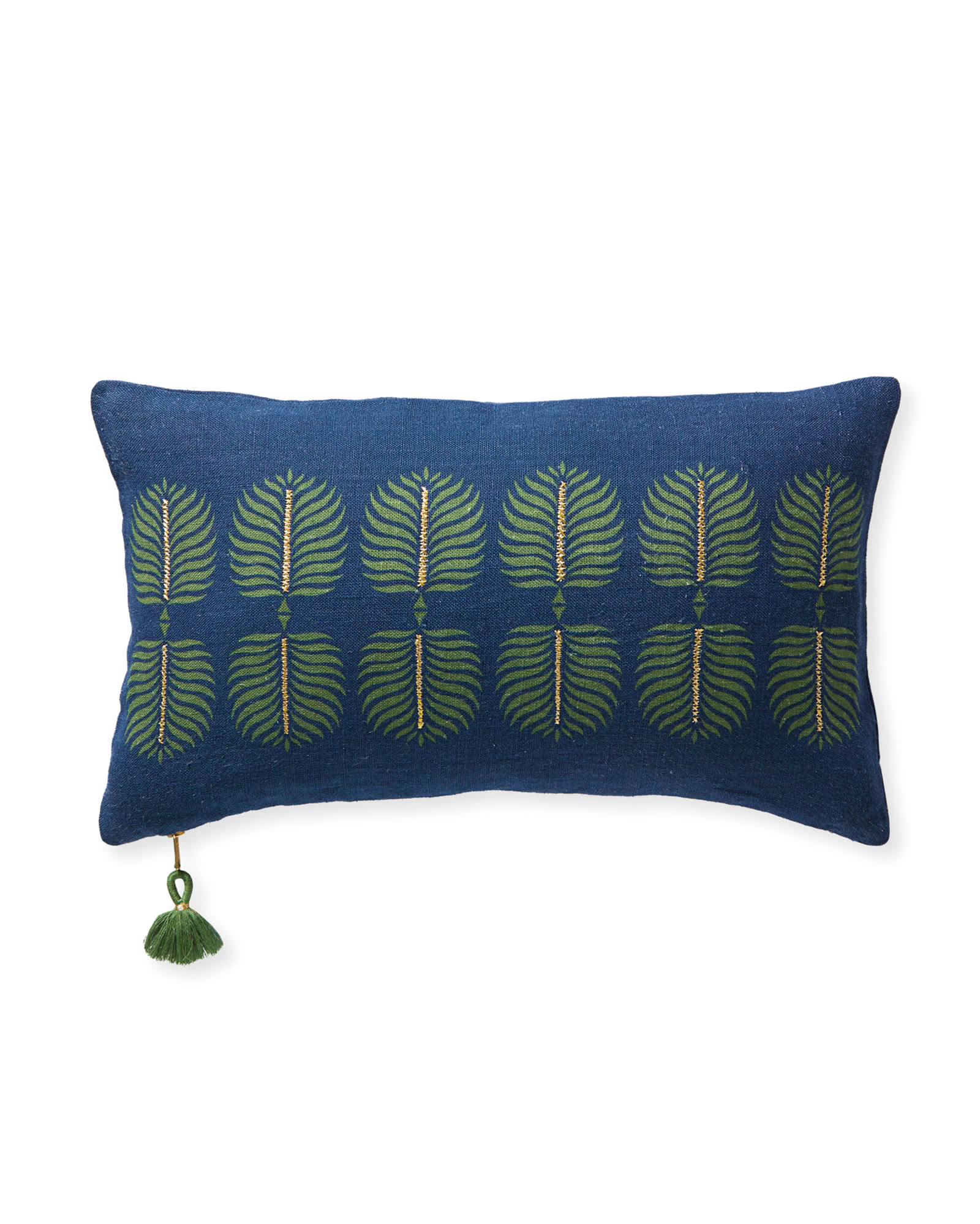 Granada Pillow Cover, Navy/Moss