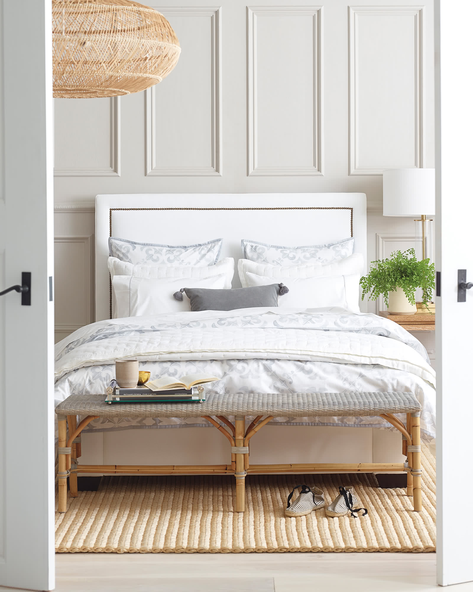 Octavia Bed with Nailheads,