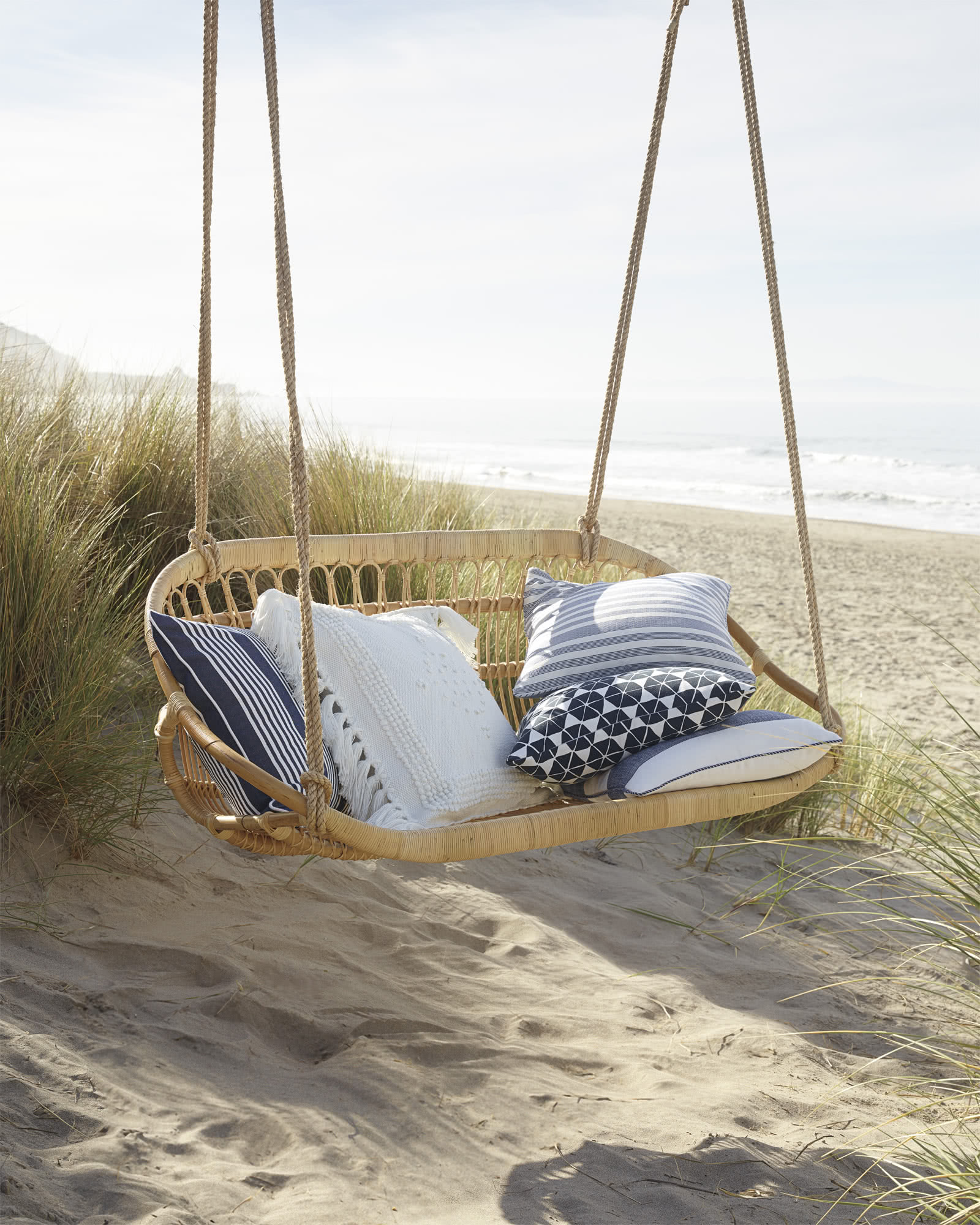 Perennials® Cabana Stripe Outdoor Pillow Cover, Navy