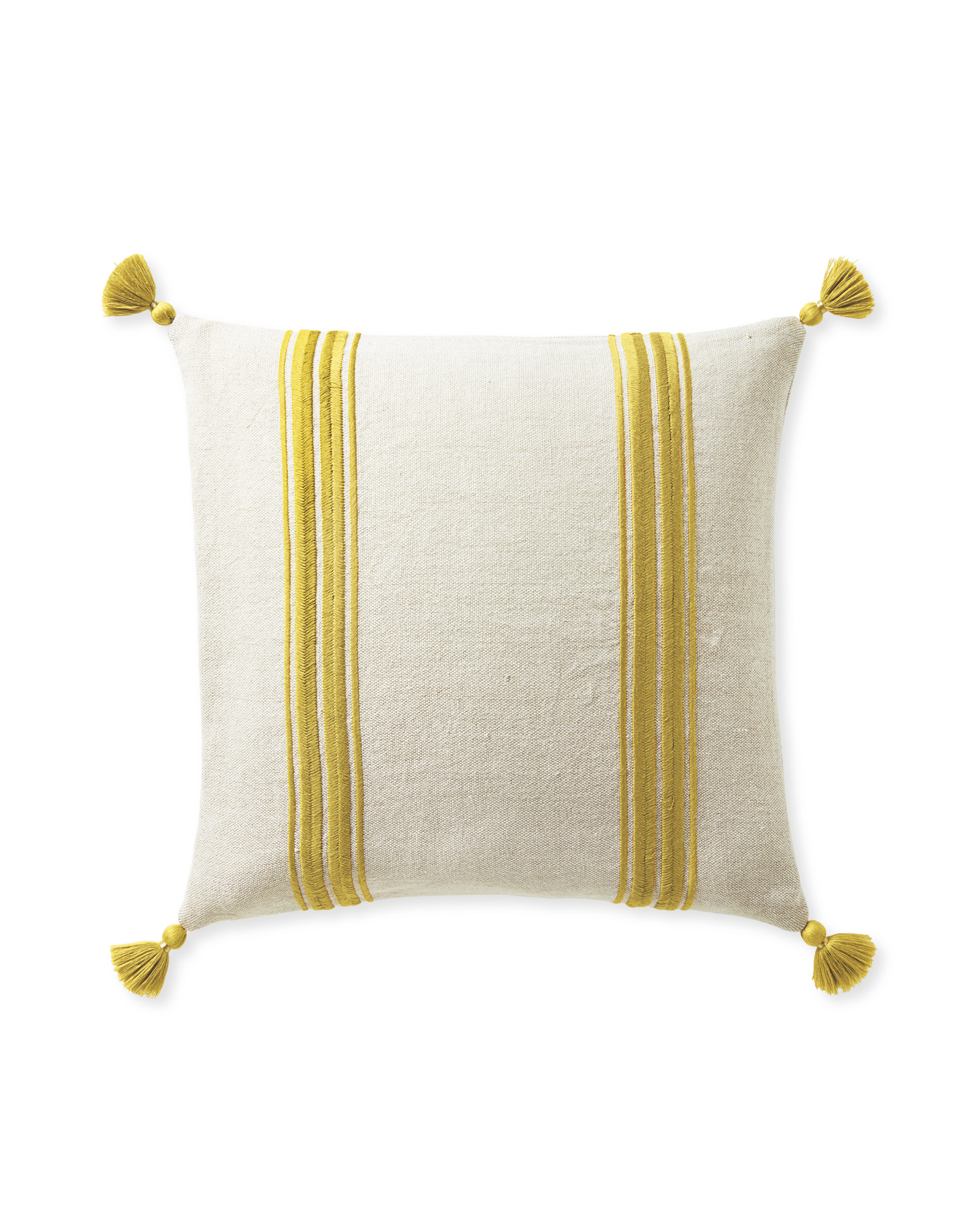 Addie Stripe Tassel Pillow Cover,
