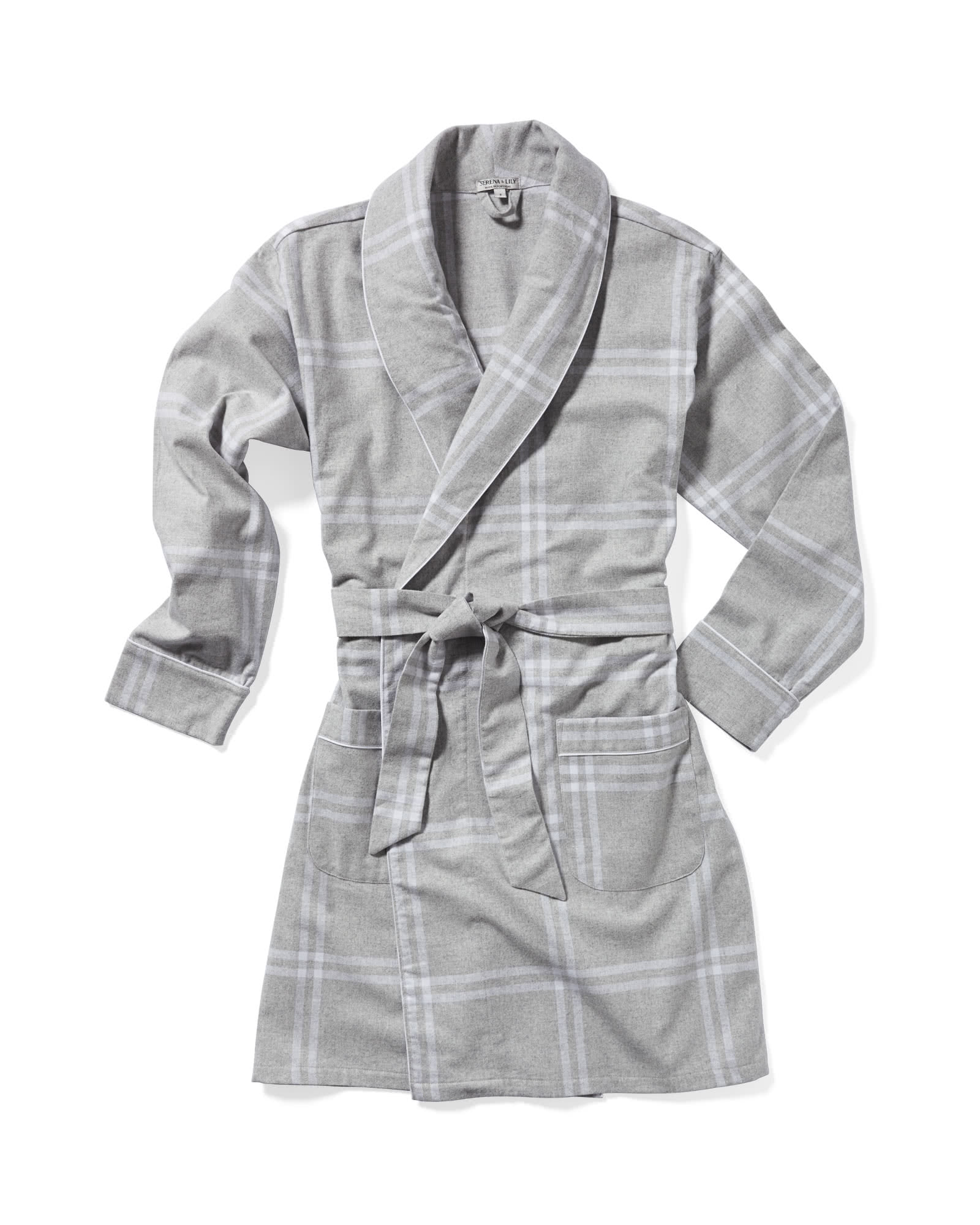 Alpine Flannel Robe, Grey