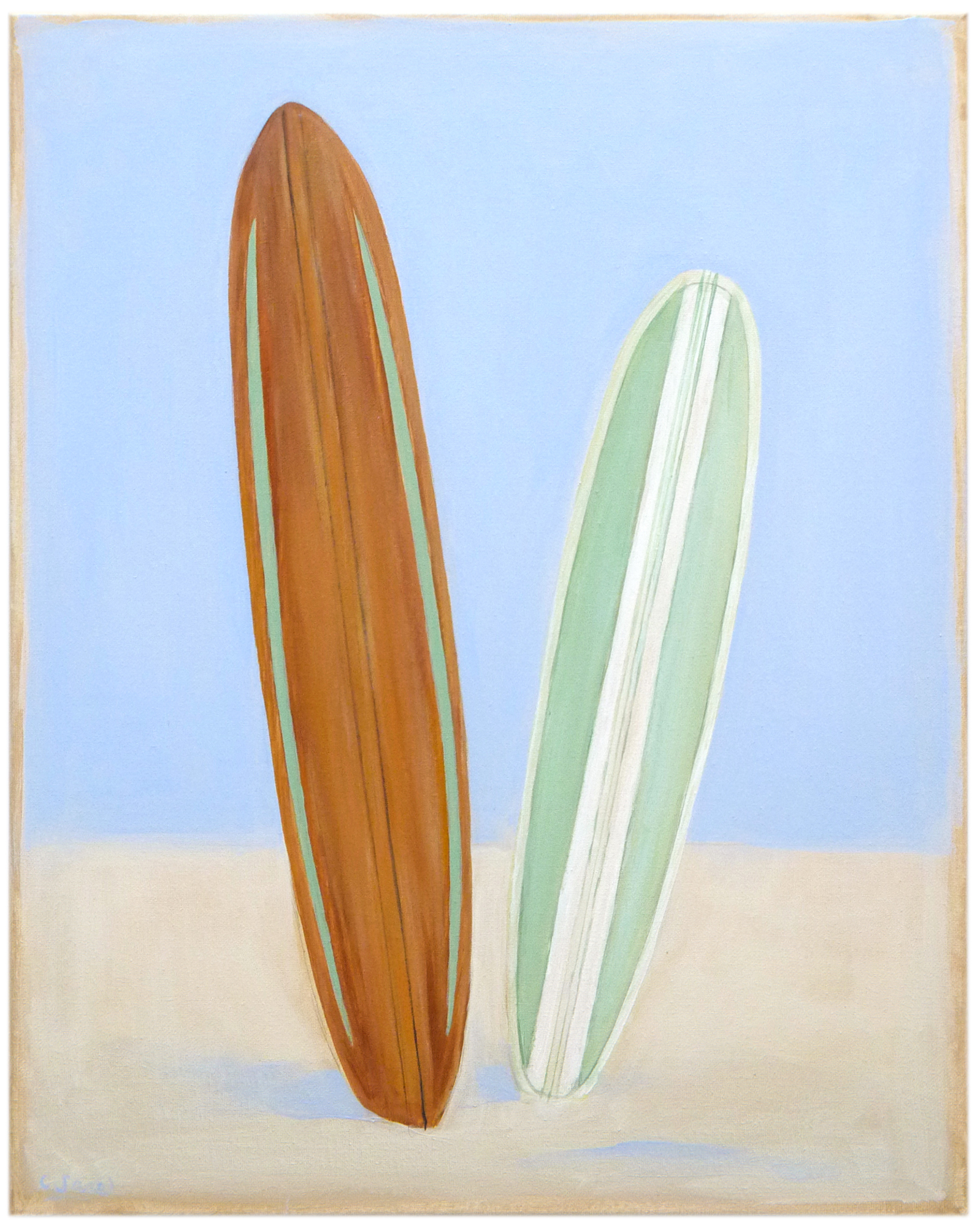 """""""Small Pair of Surfboards"""" by Carol Saxe,"""
