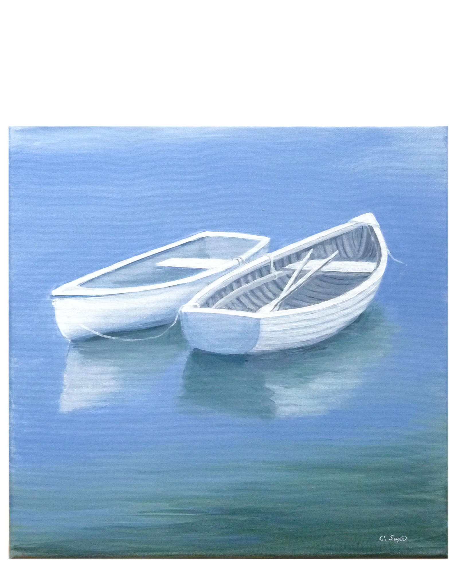 """""""Two Dinghies"""" by Carol Saxe,"""