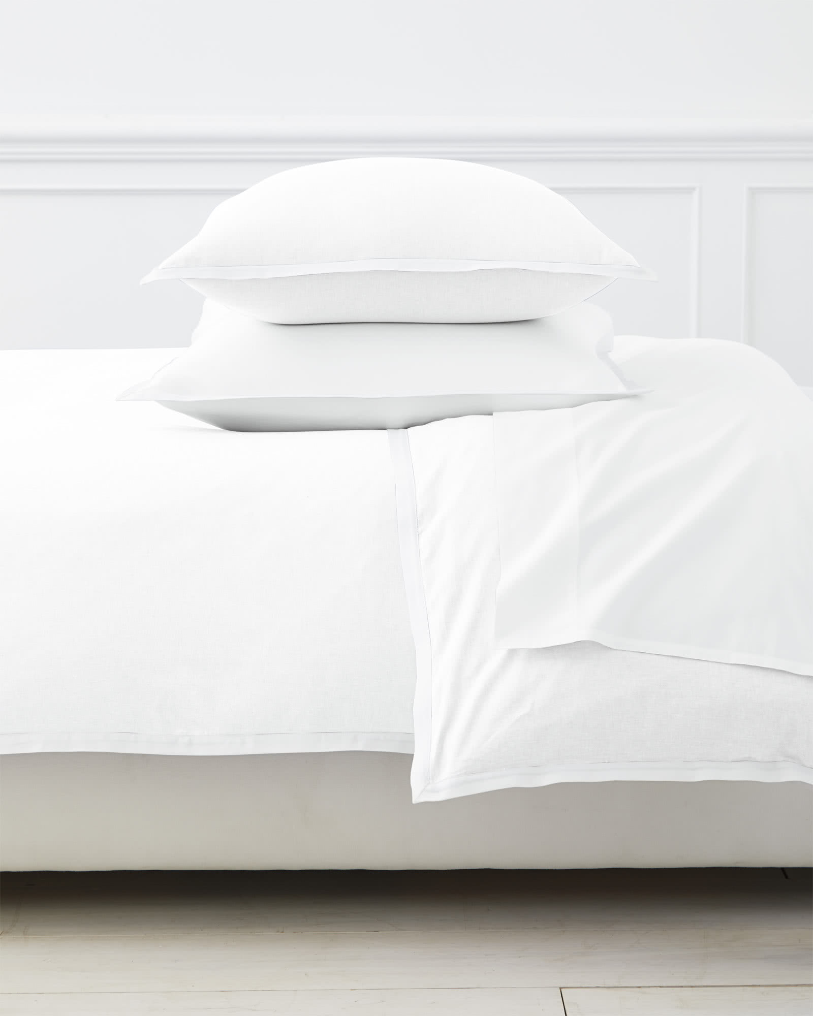 Wainscott Oxford Weave Duvet Cover, White