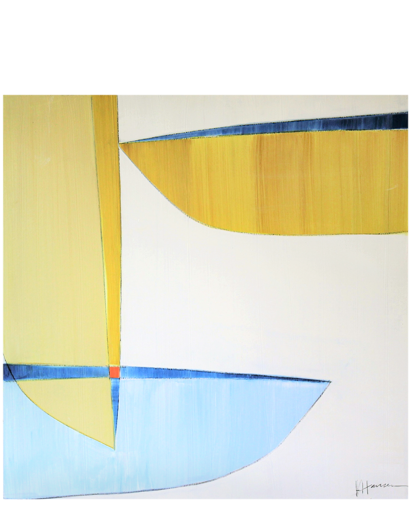 "Blue and Gold"" by Julie Hansen,"