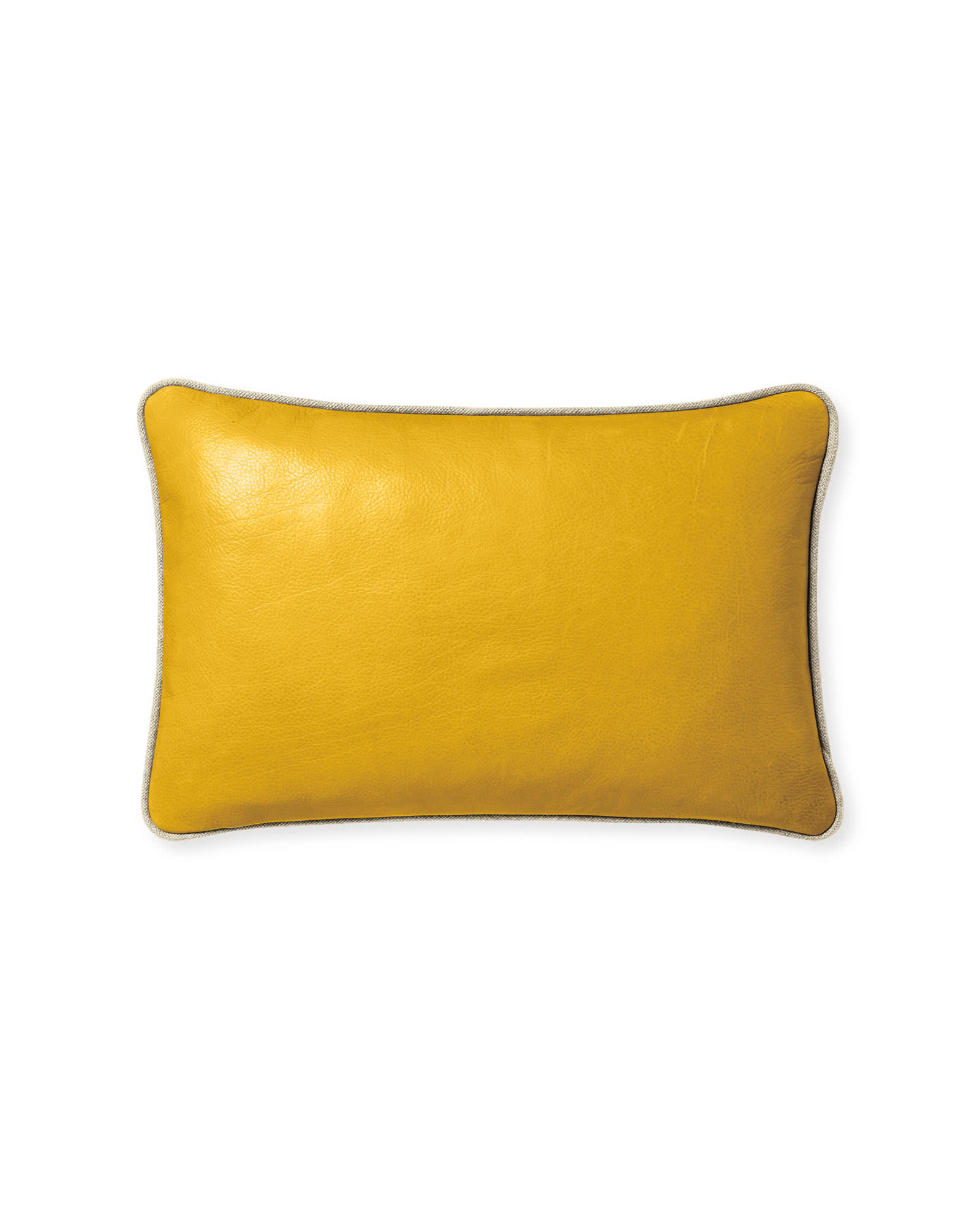 Leather Pillow Cover, Ochre