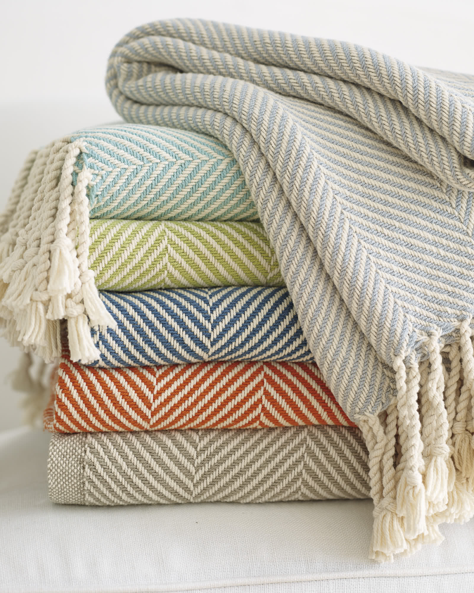 Brahms Mount Herringbone Cotton Throw,