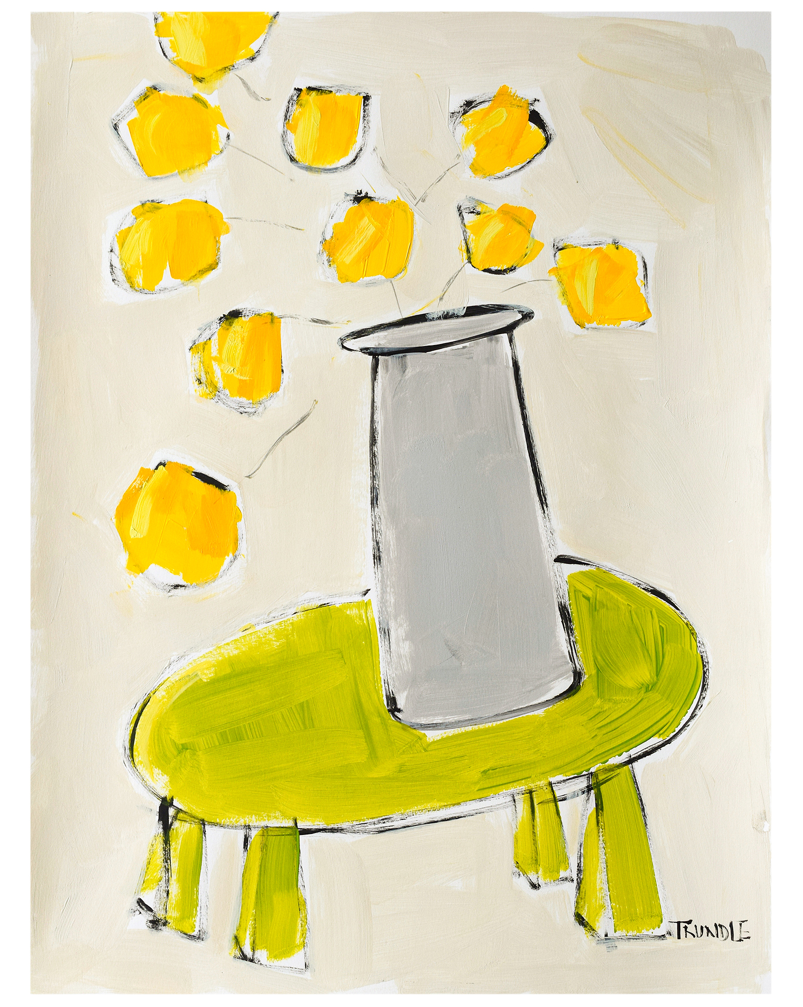 """Green Table / Yellow Blooms"""" by Sarah Trundle,"""