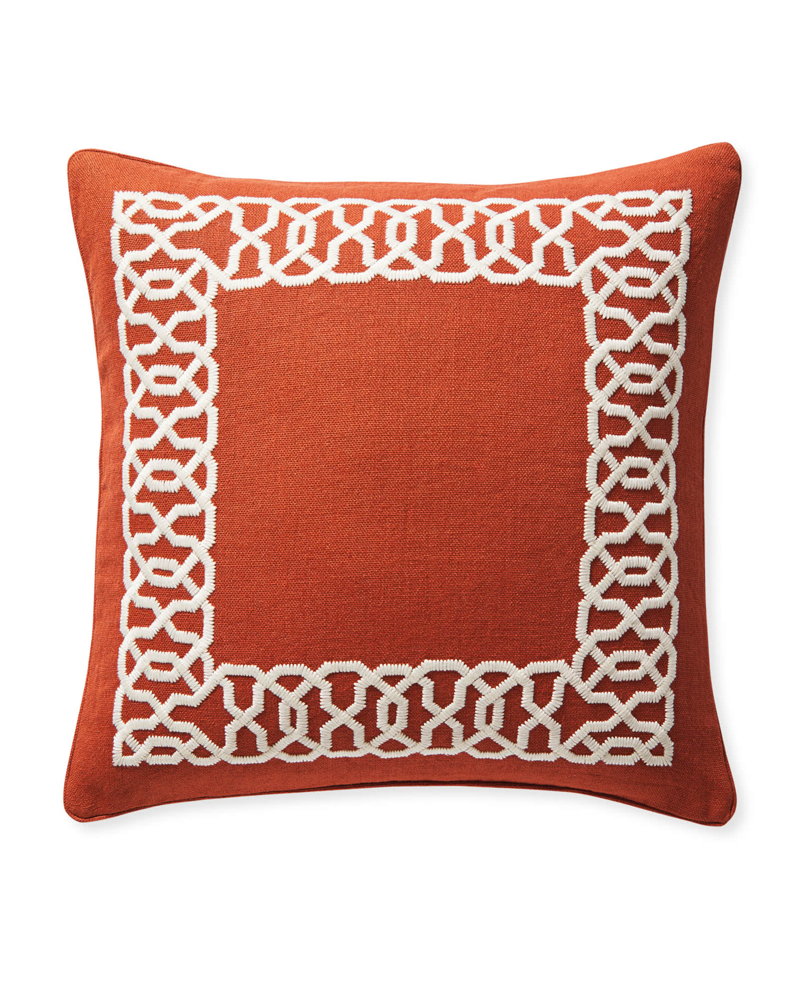 Jetty Pillow Cover, Terracotta