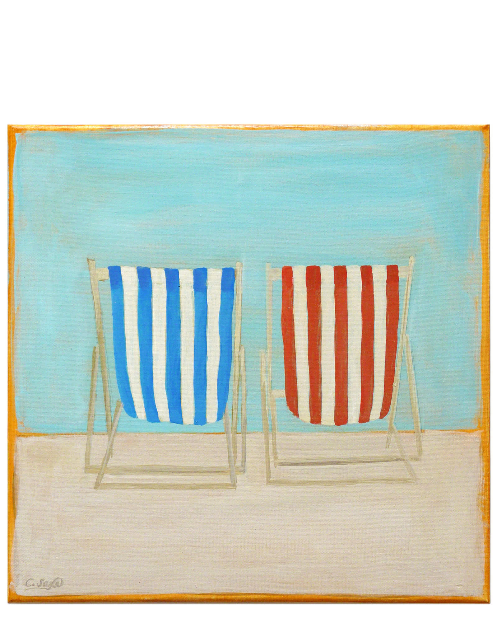 """Beach Chairs"" by Carol Saxe,"