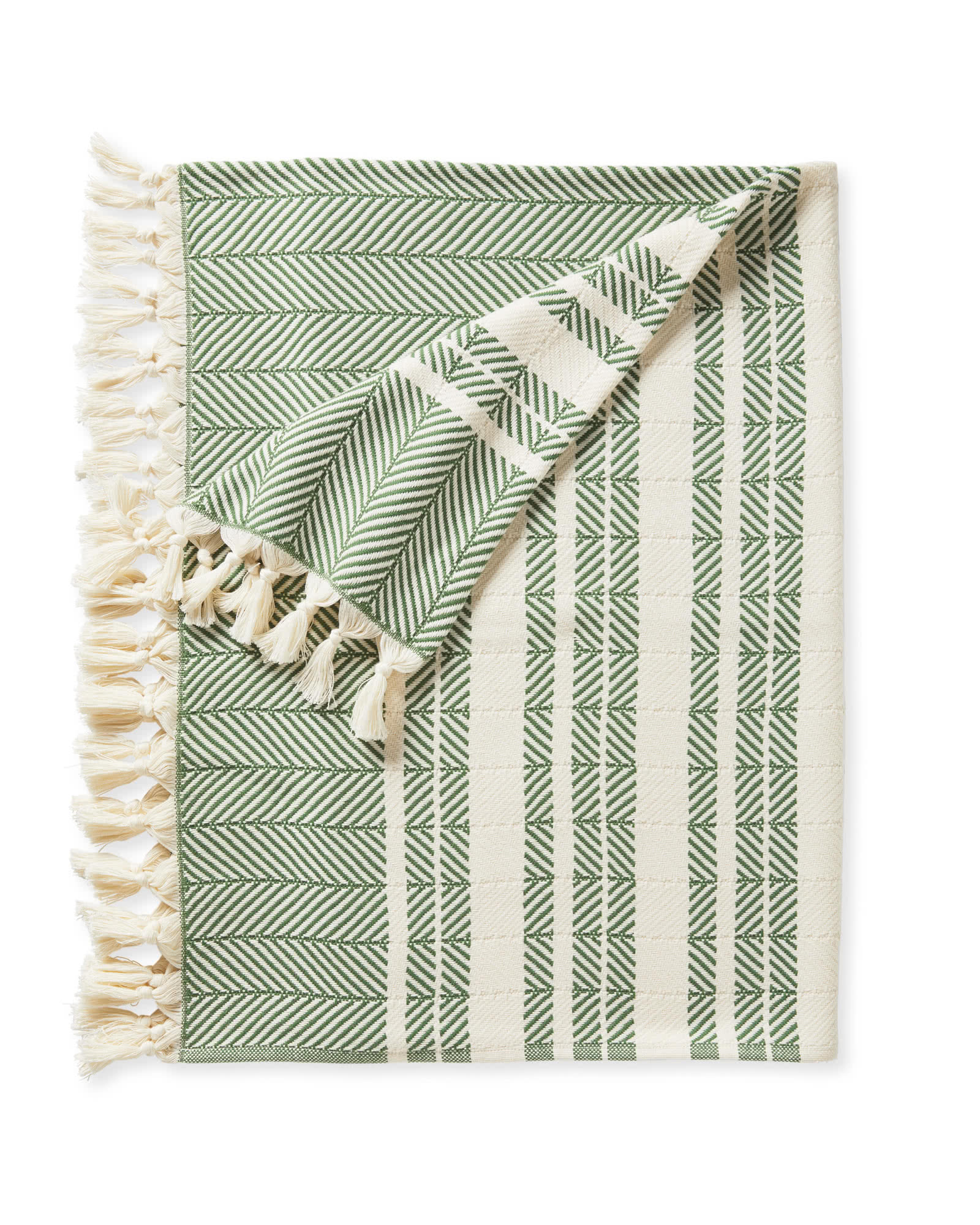 Palermo Cotton Throw, Moss