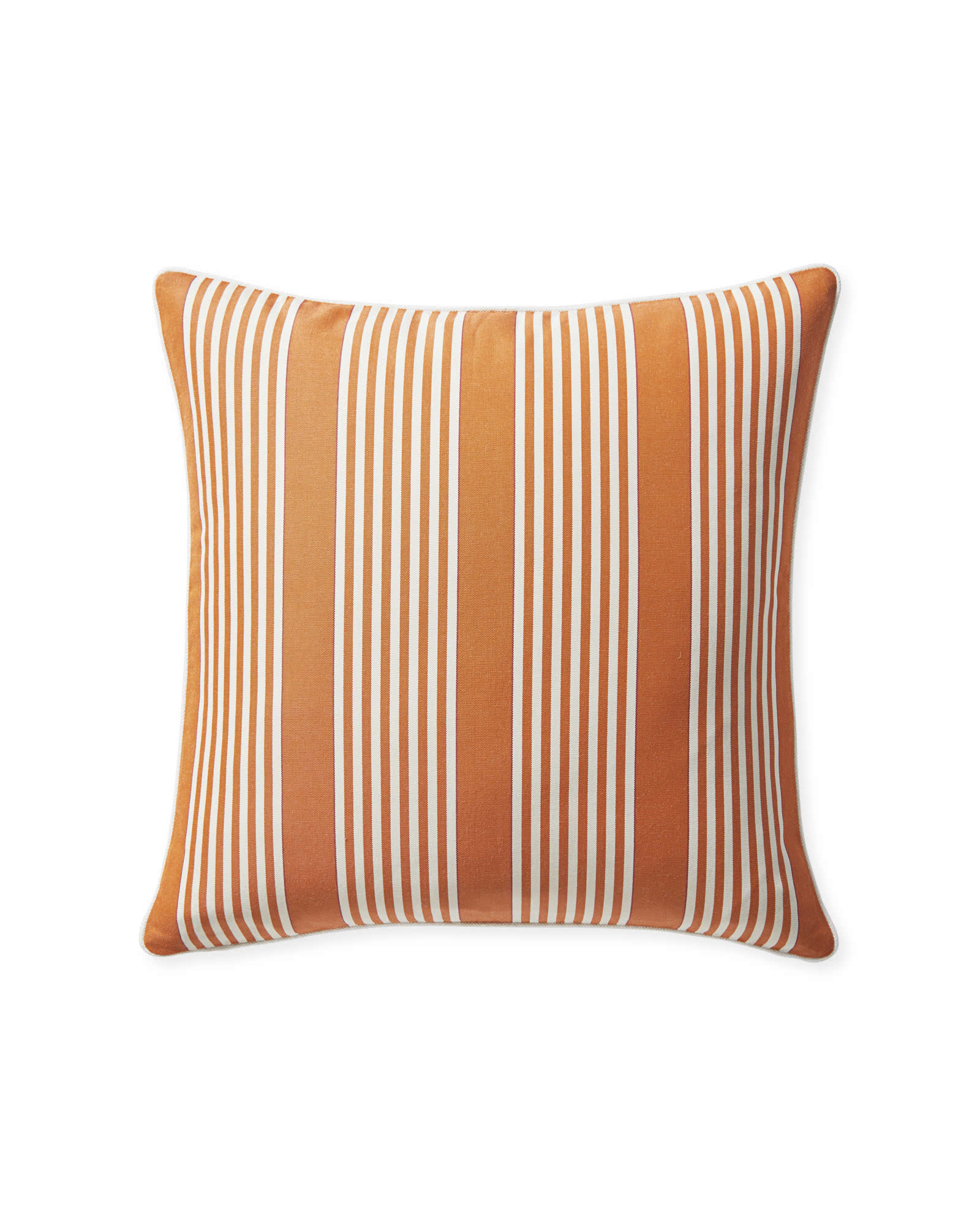 Perennials® Cabana Stripe Outdoor Pillow Cover, Mandarin