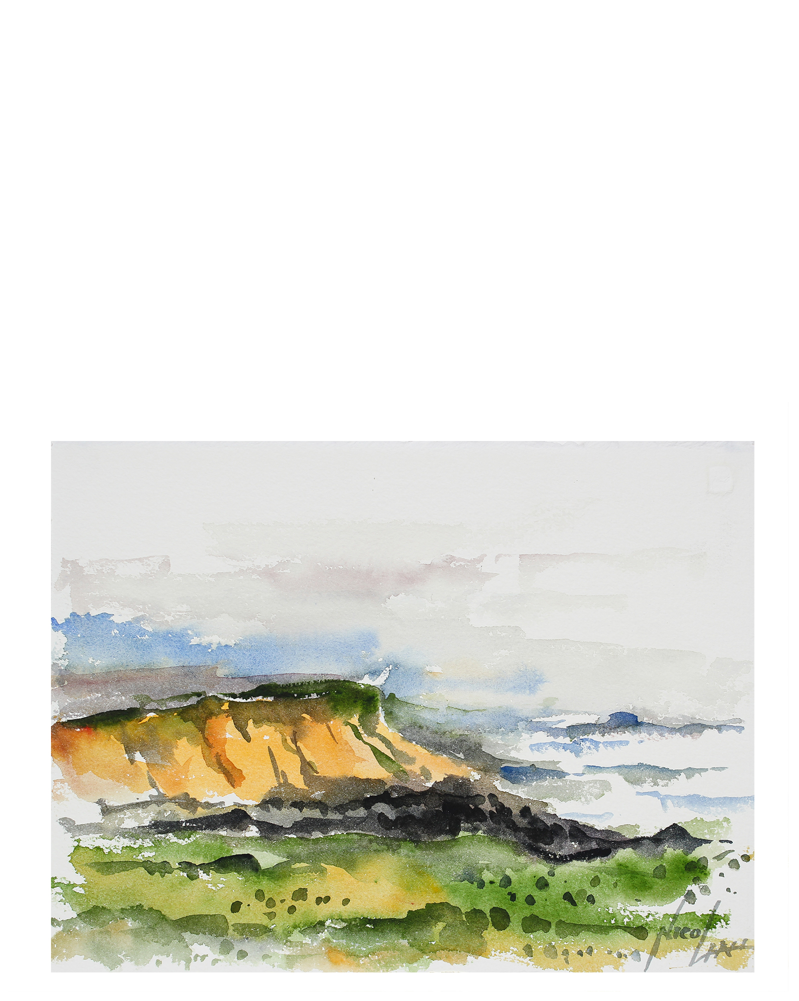"""""""Abstracted Cliffs & Coast"""" by John Nicolini,"""