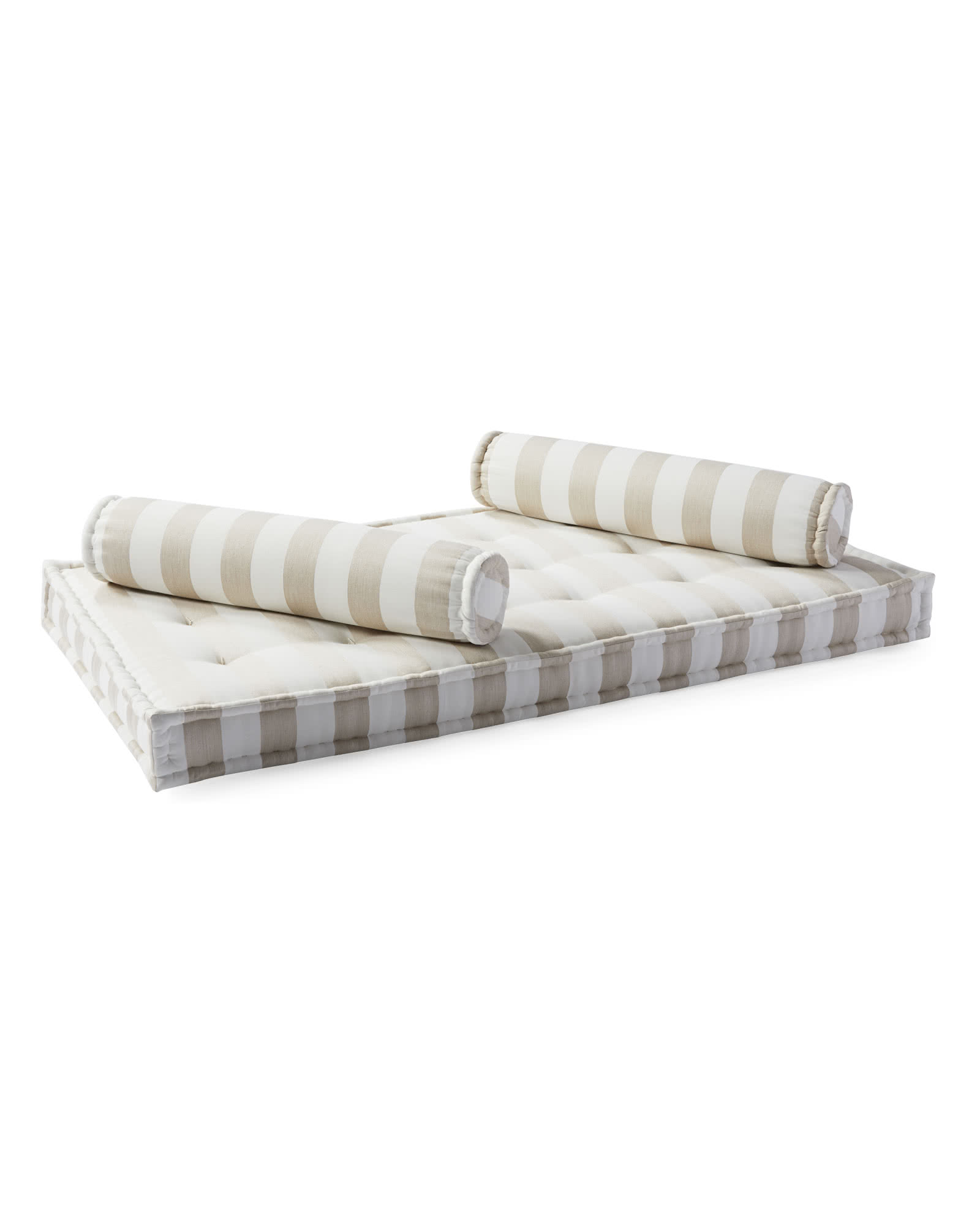 Indoor/Outdoor Daybed Mattress & Bolsters, Sunbrella Dune Stripe