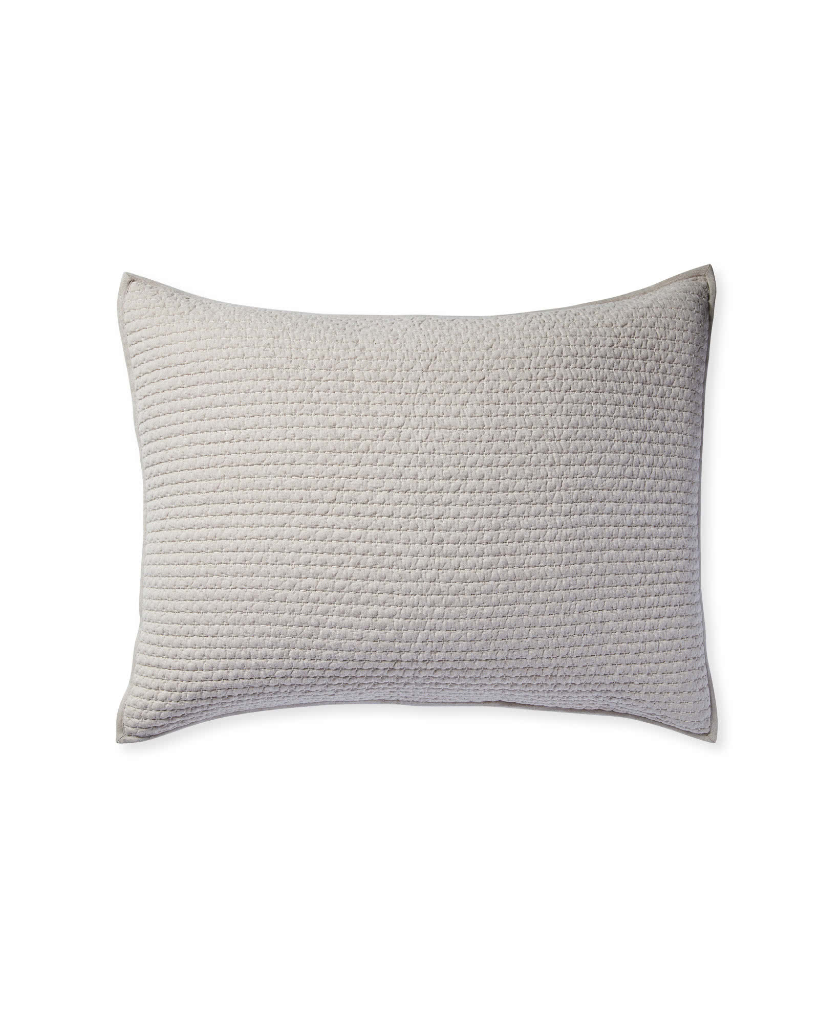 Westwood Quilted Shams, Light Grey