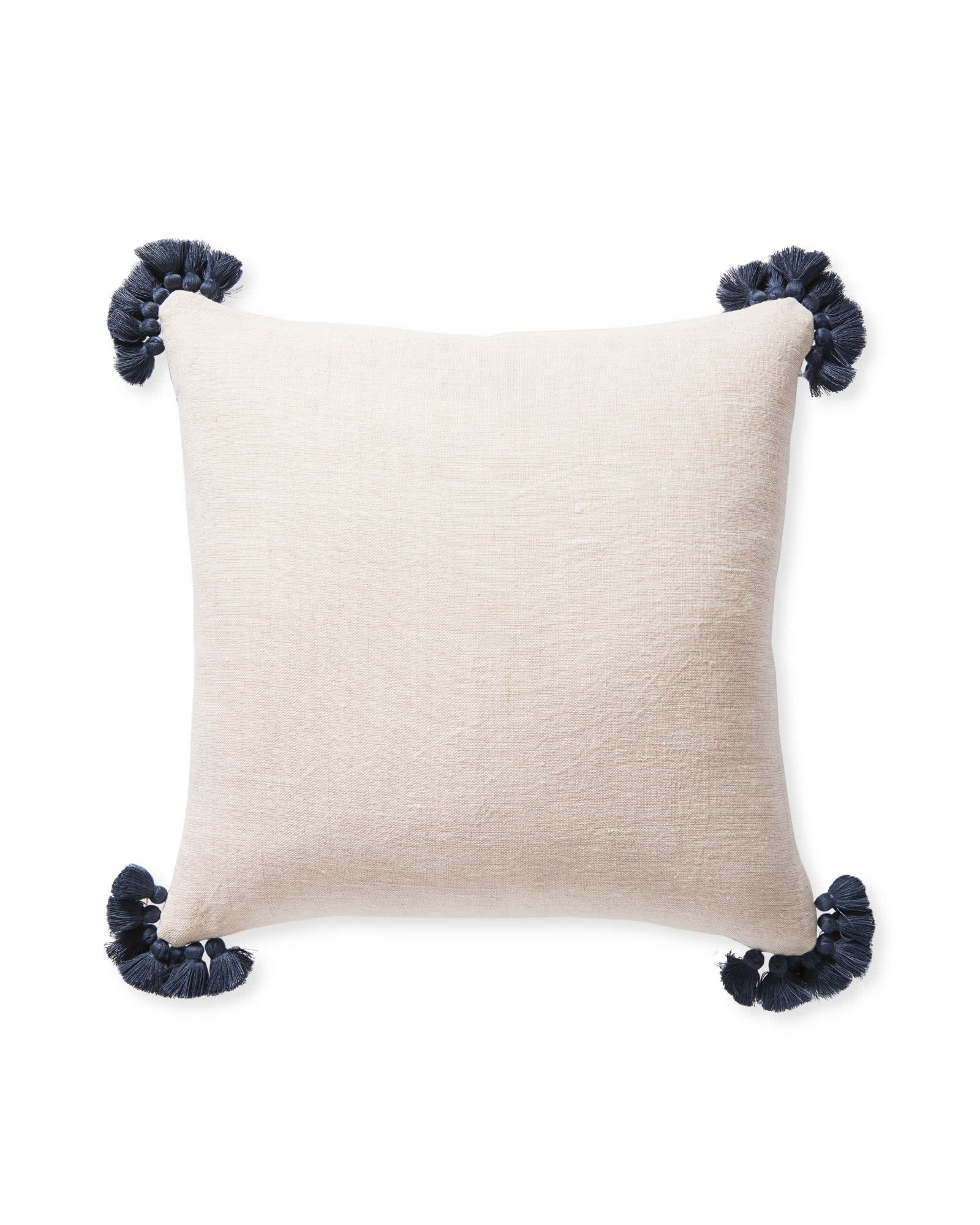 Cayucos Pillow Cover, Pink Sand/Navy
