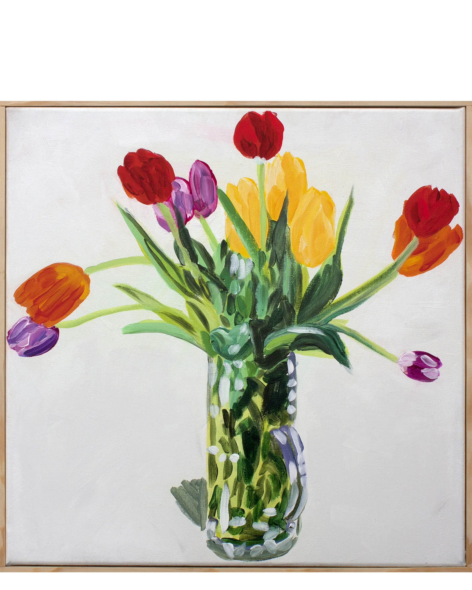 """""""Spring Tulips on Bone White"""" by Isabel Vexin,"""