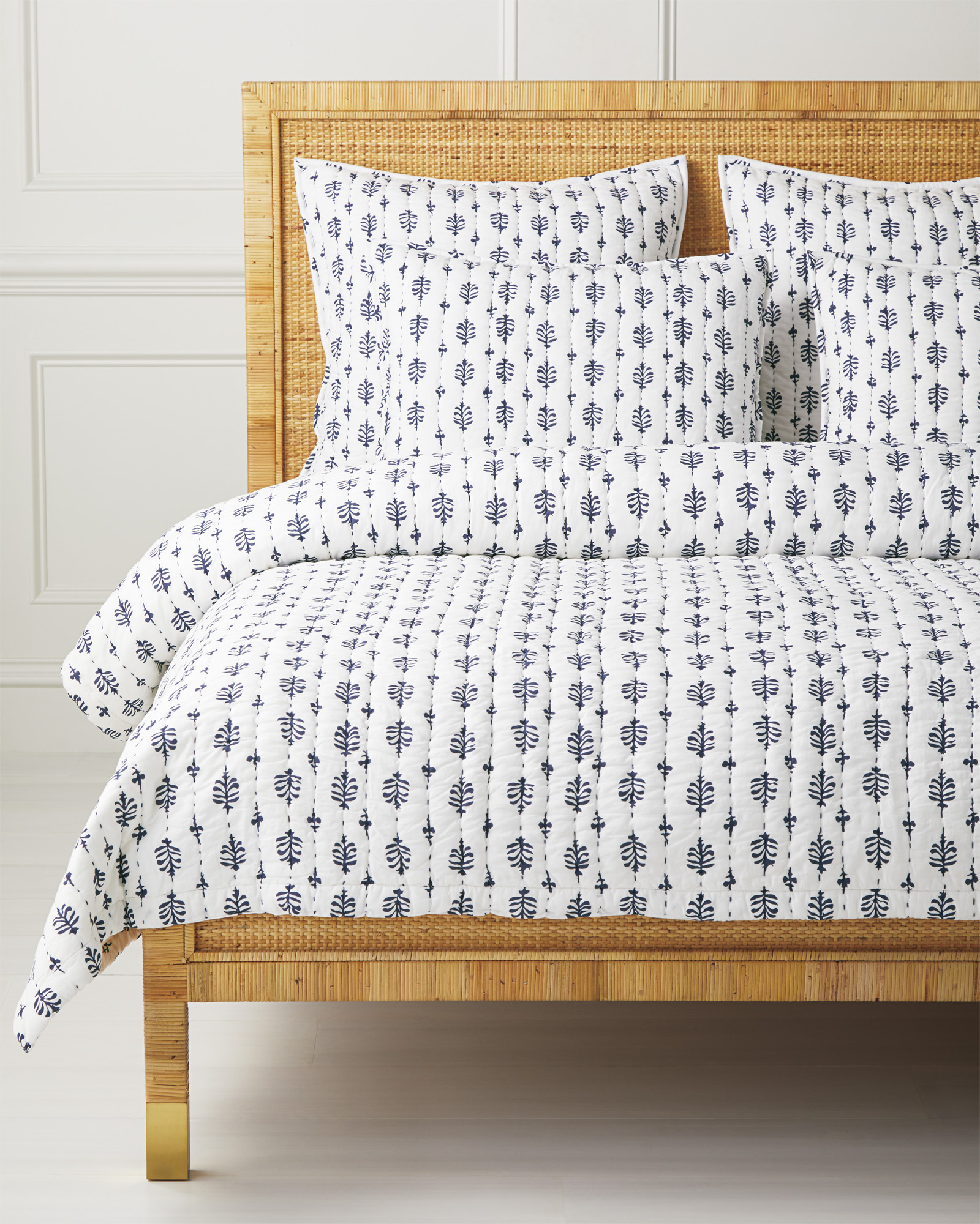 Cambria Quilt, Navy
