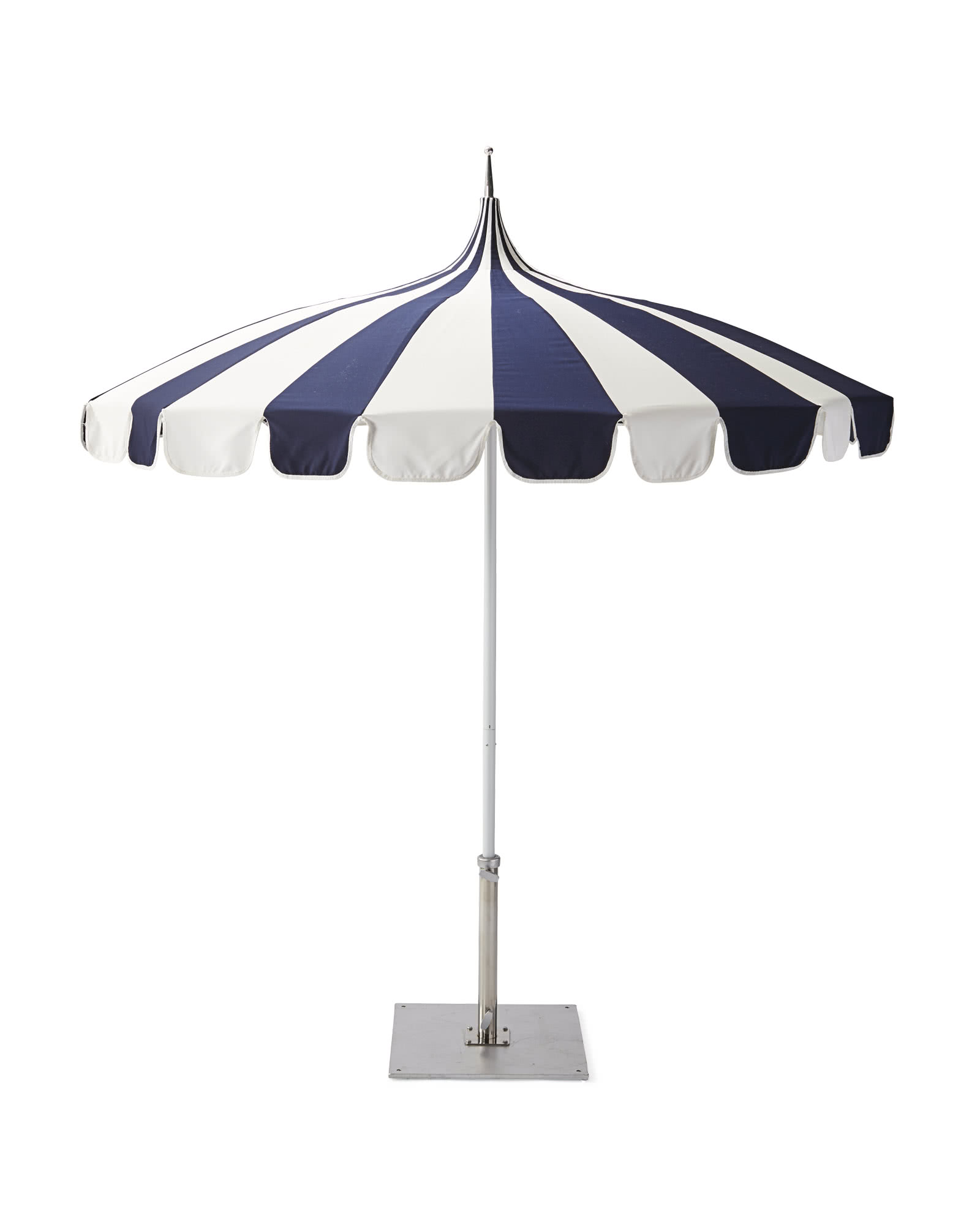 Eastport Striped Umbrella, Navy/White