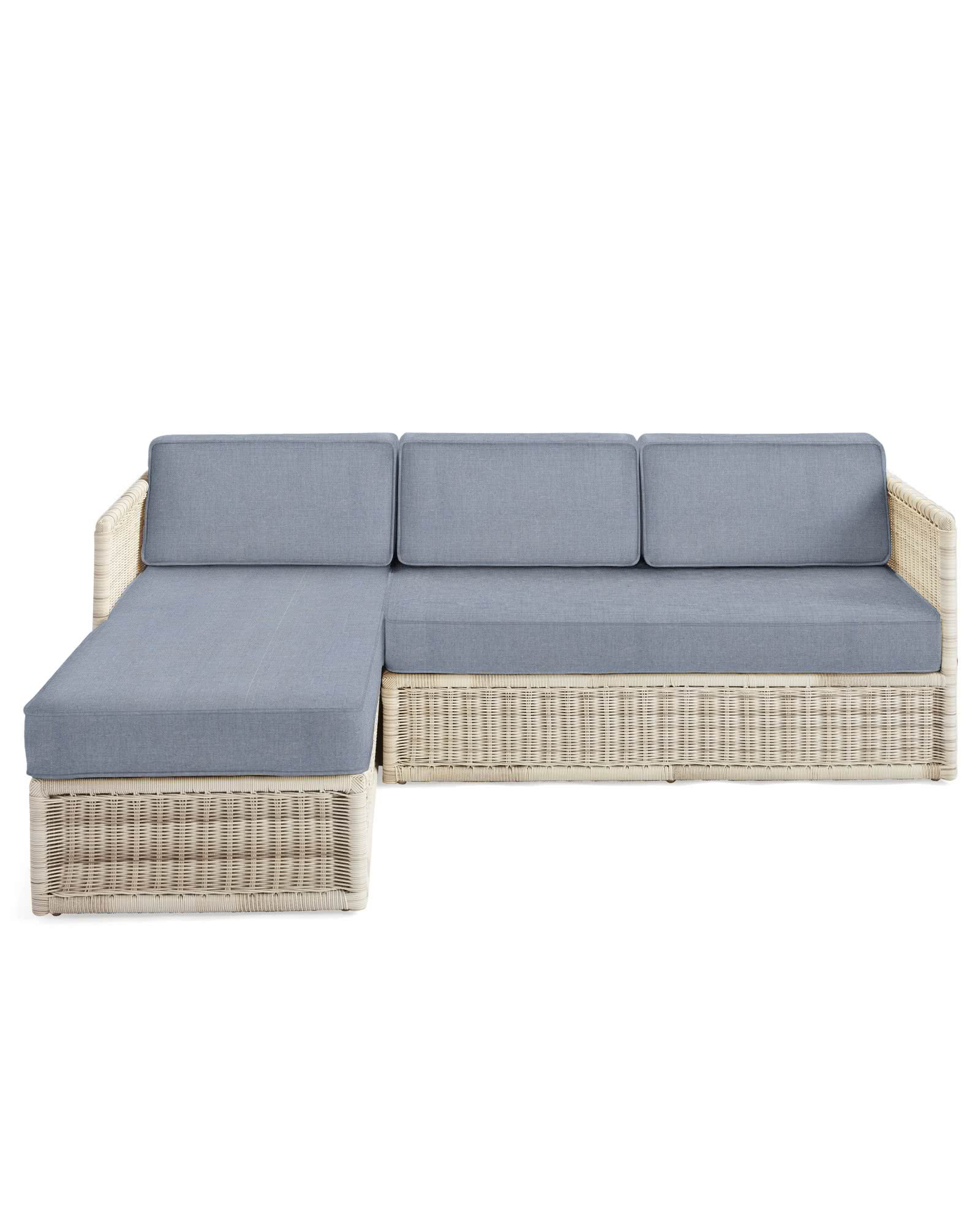 Pacifica Left-Facing Chaise Sectional - Driftwood,