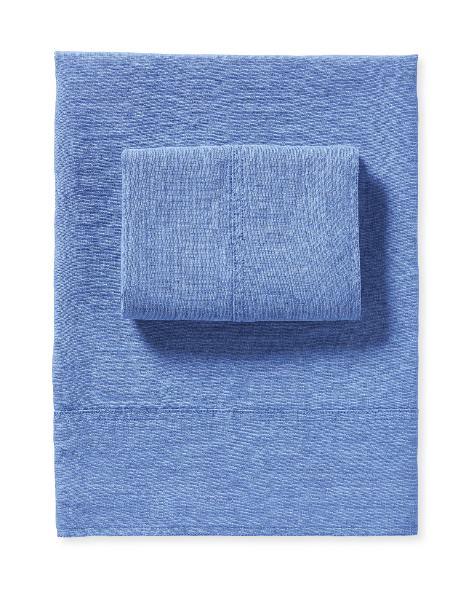Positano Linen Sheet Set, French Blue