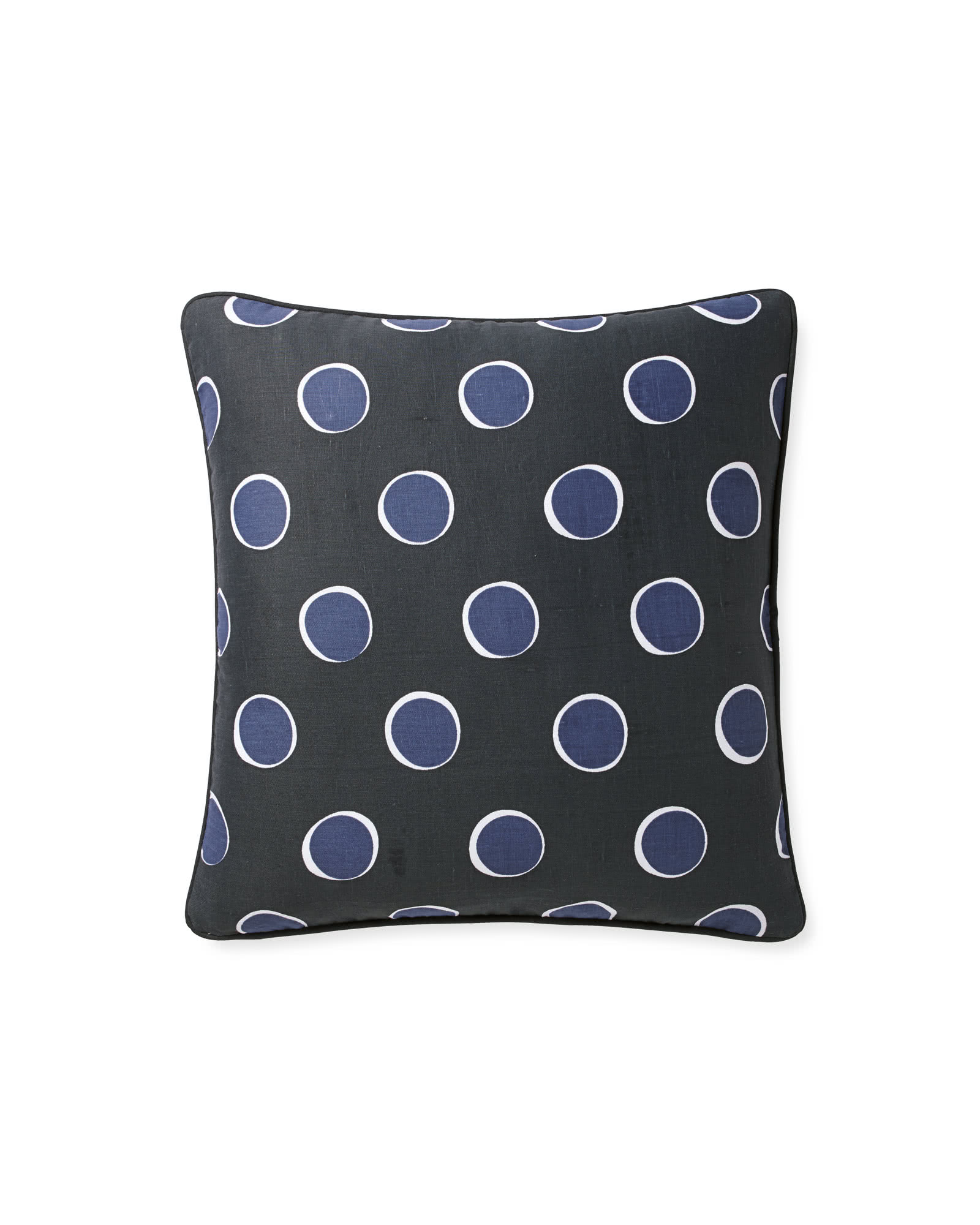 Polka Dot Pillow Cover, Midnight