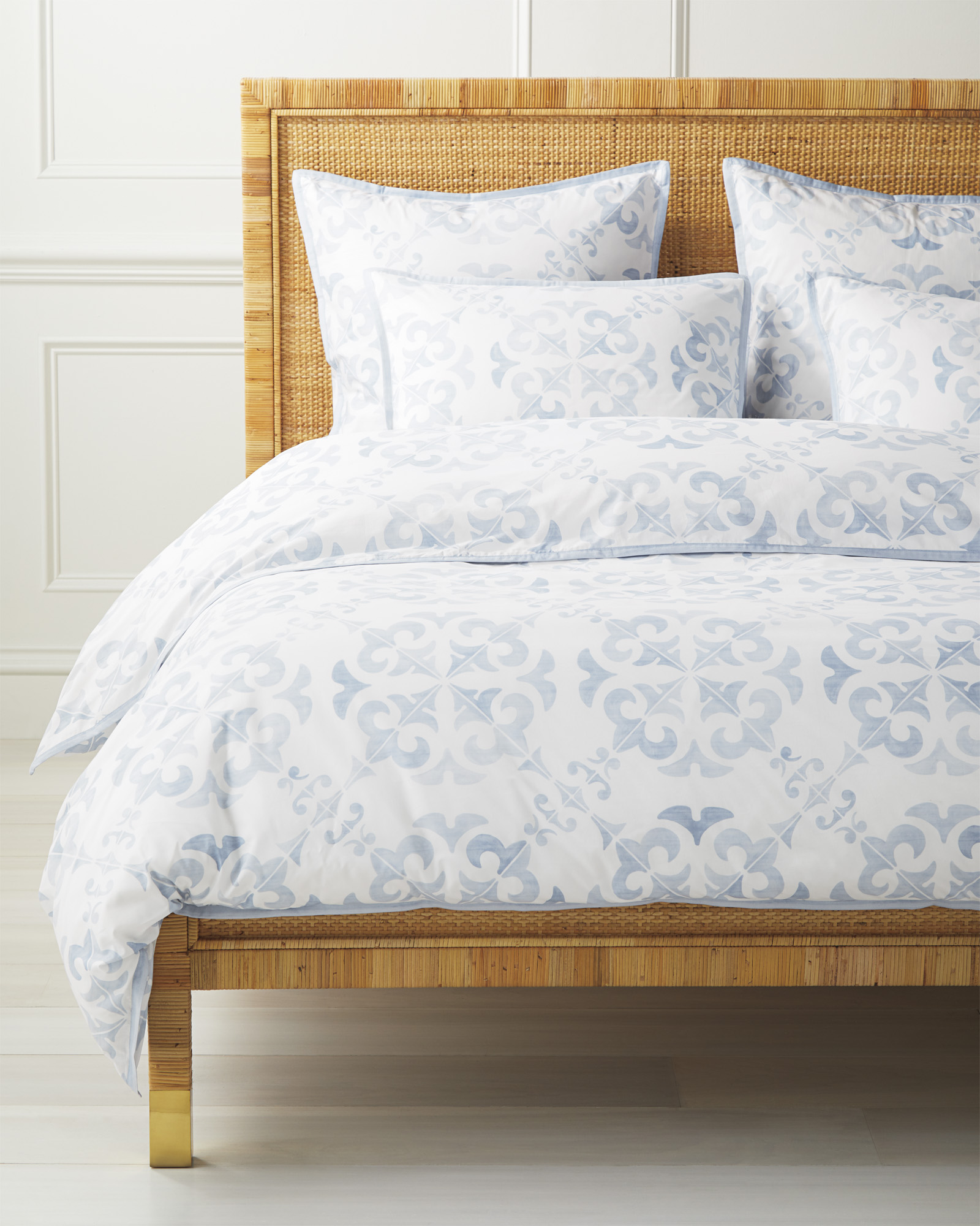 Wentworth Duvet Cover, Coastal Blue