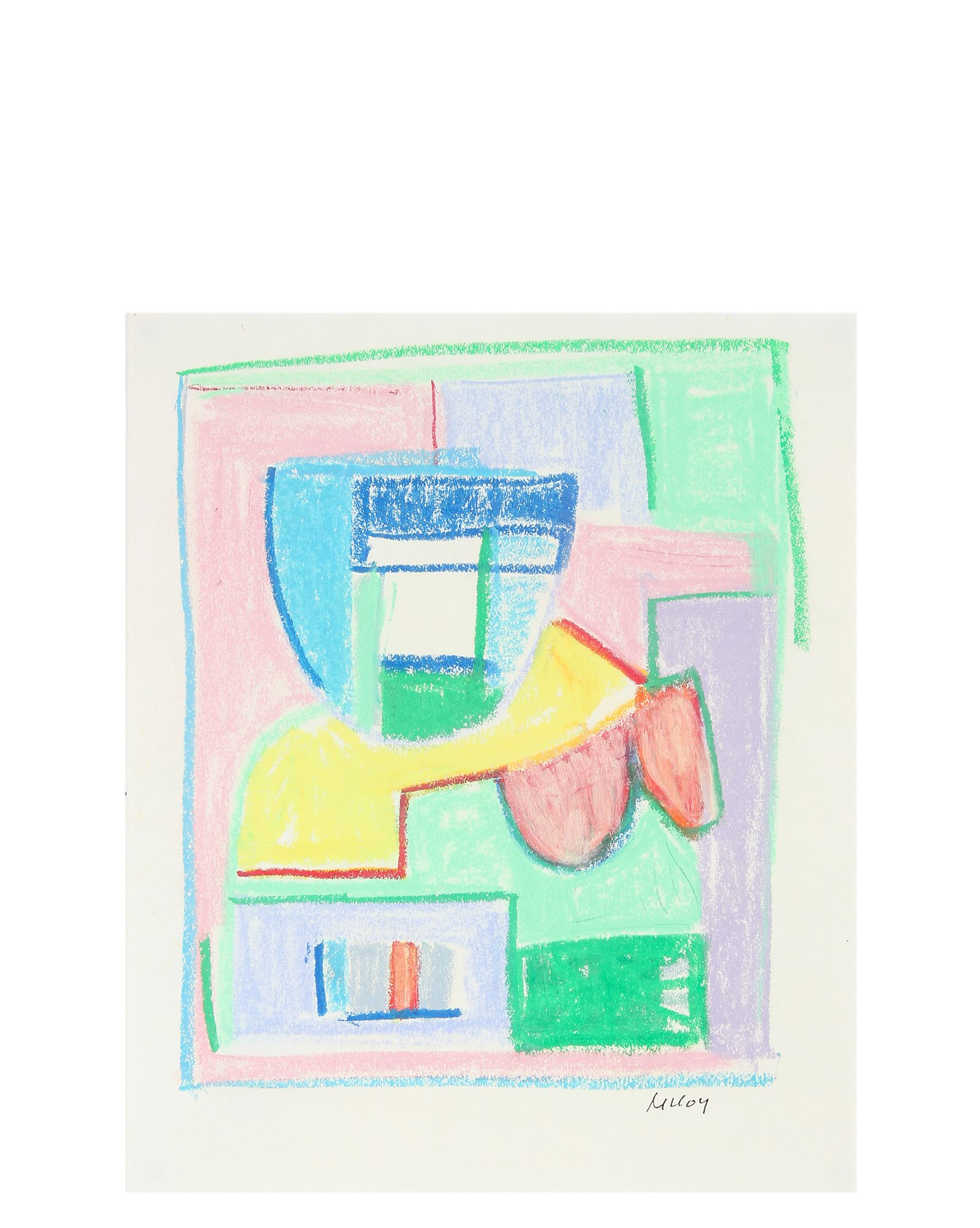 """""""Modernist Pastel Geometric Abstract"""" by Paul McCoy,"""