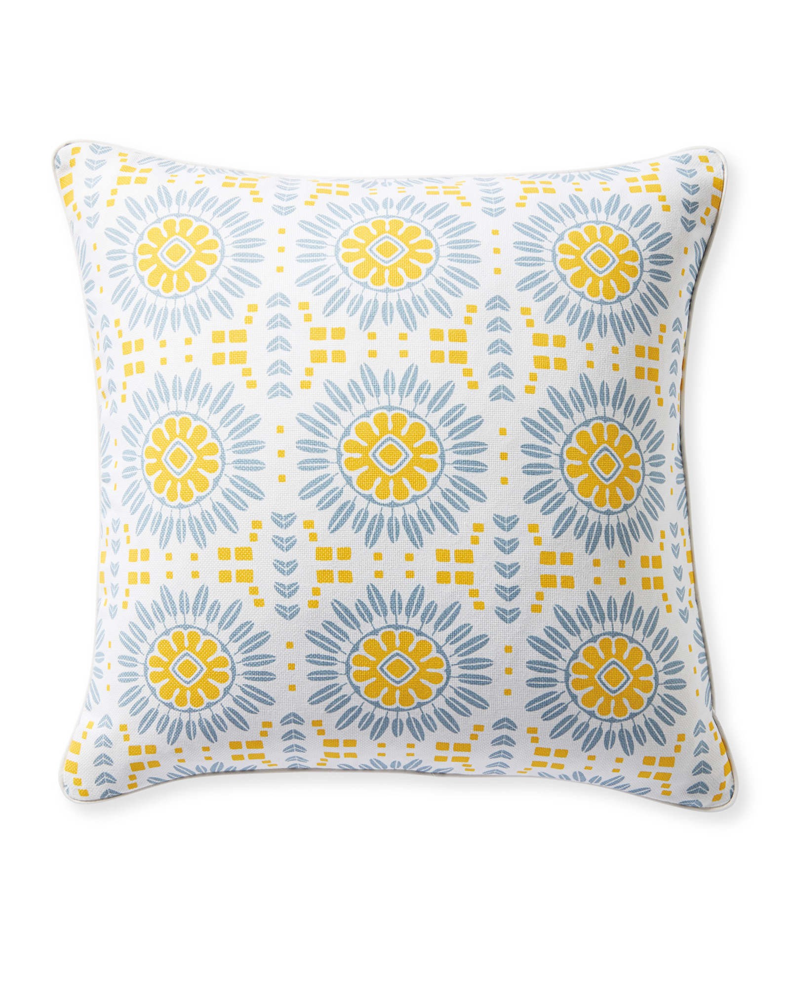 Campania Pillow Cover, Canary/Coastal