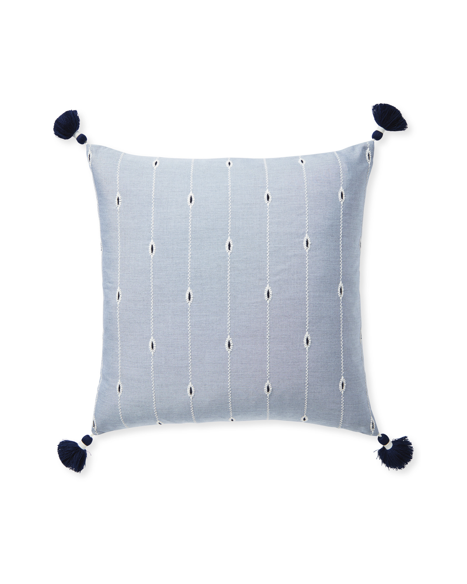 Rivoli Pillow Cover, Coastal Blue