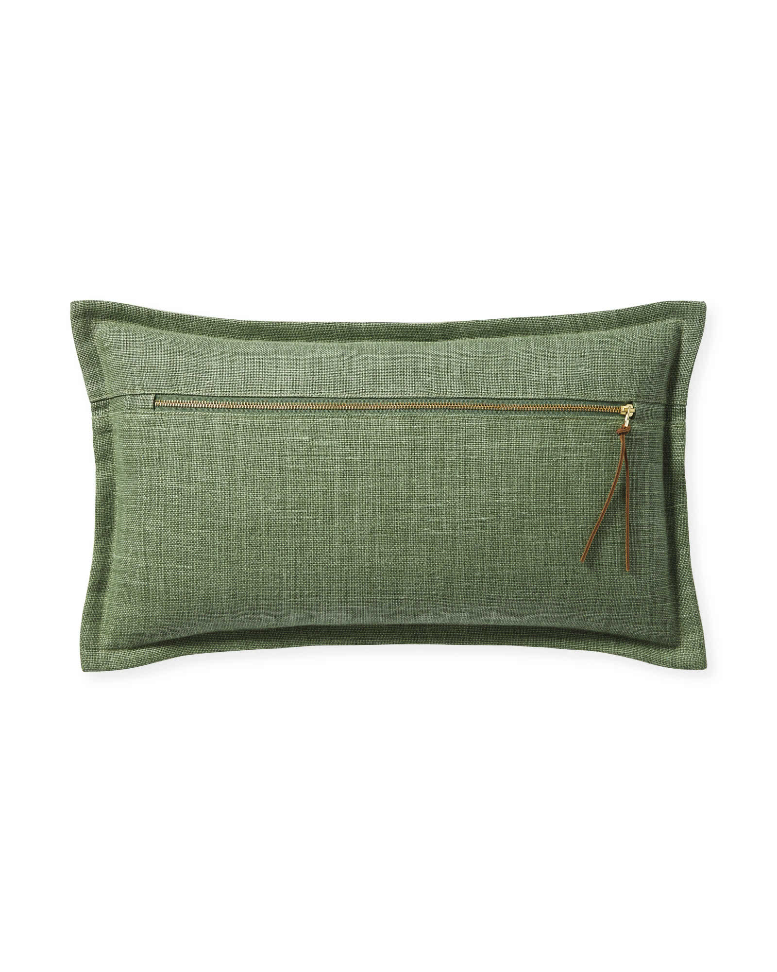 Two Tone Zip Pillow Cover, Moss