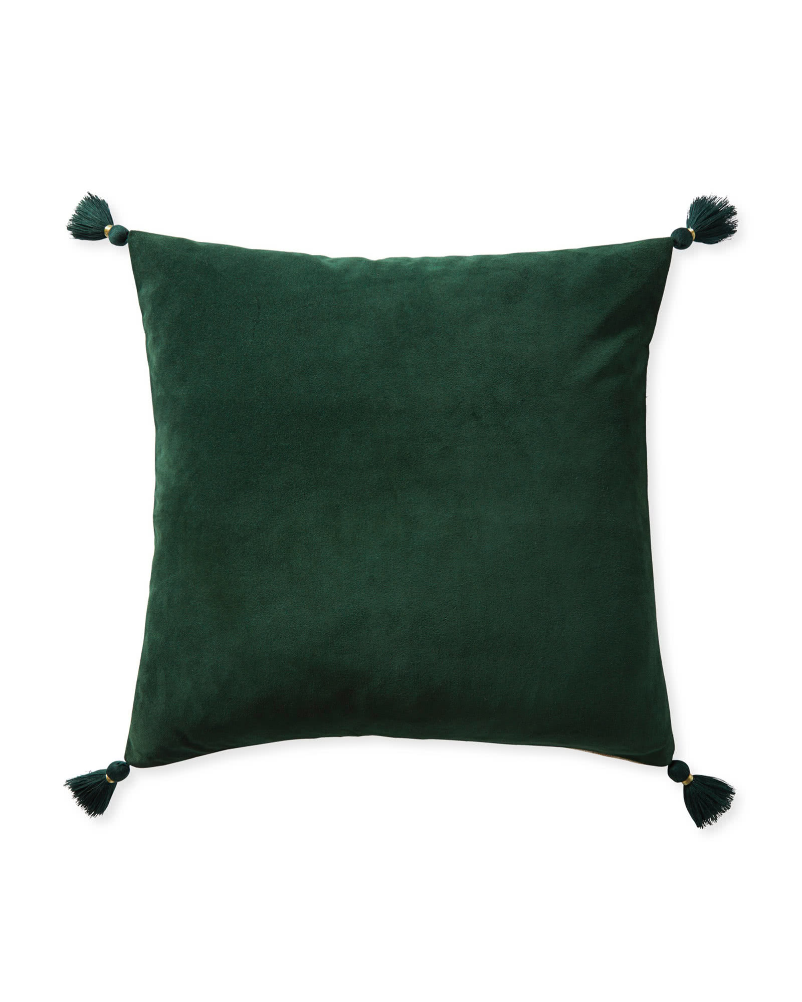 Suede Eva Pillow Cover, Evergreen