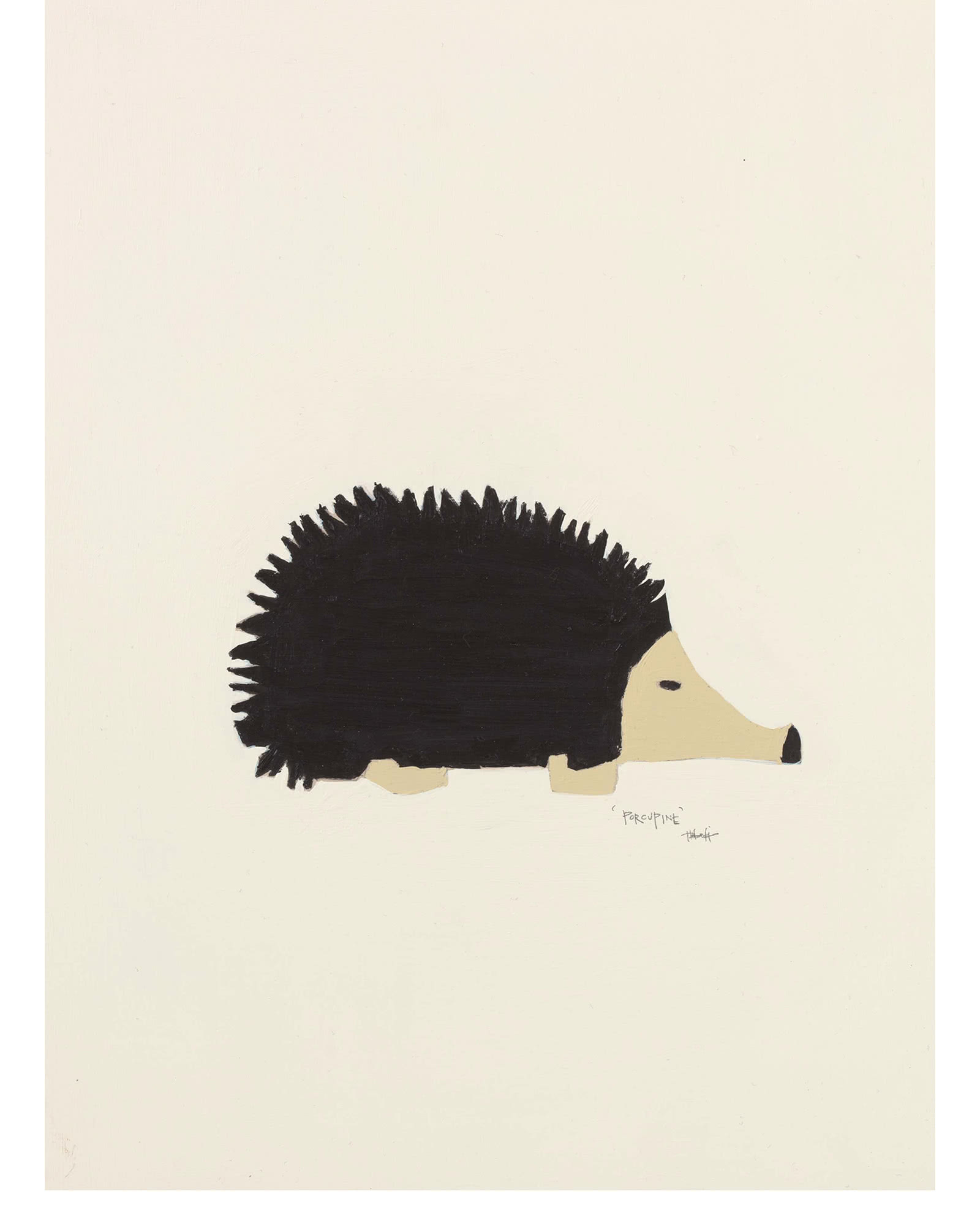 """Woodland Porcupine"" by Holly Addi,"