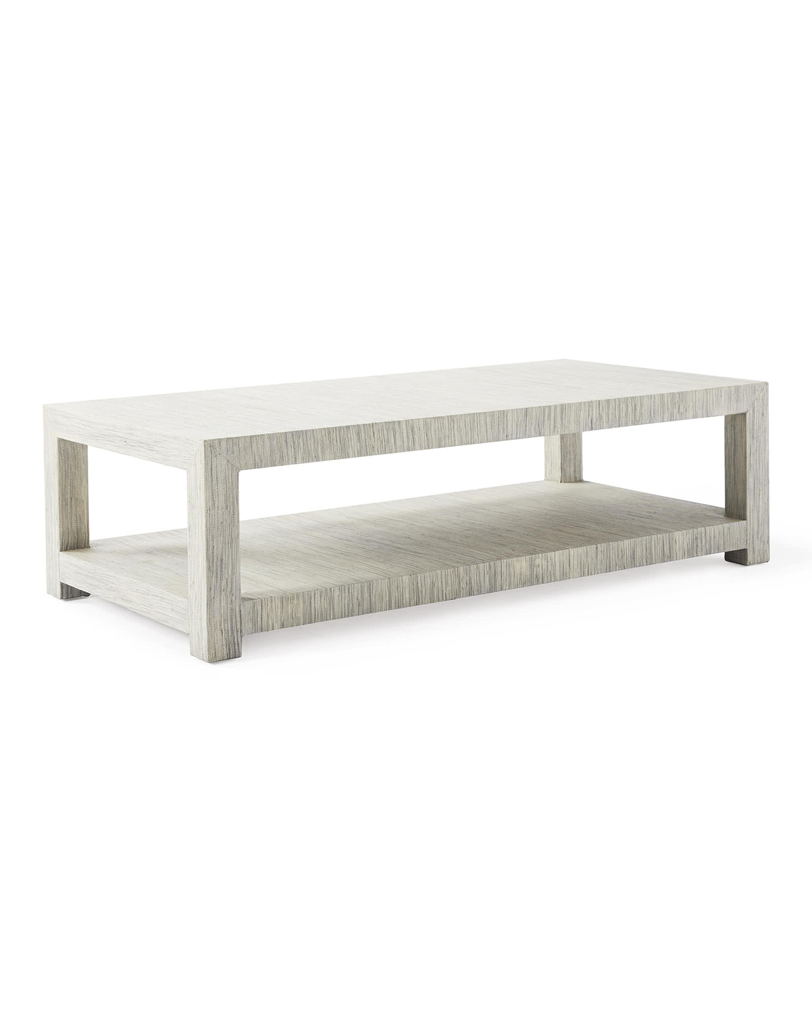 Blake Raffia Rectangular Coffee Table, Fog
