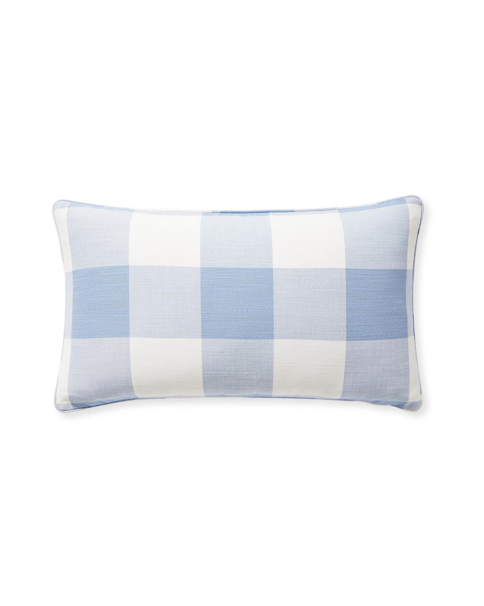 Perennials® Gingham Pillow Cover, Coastal Blue