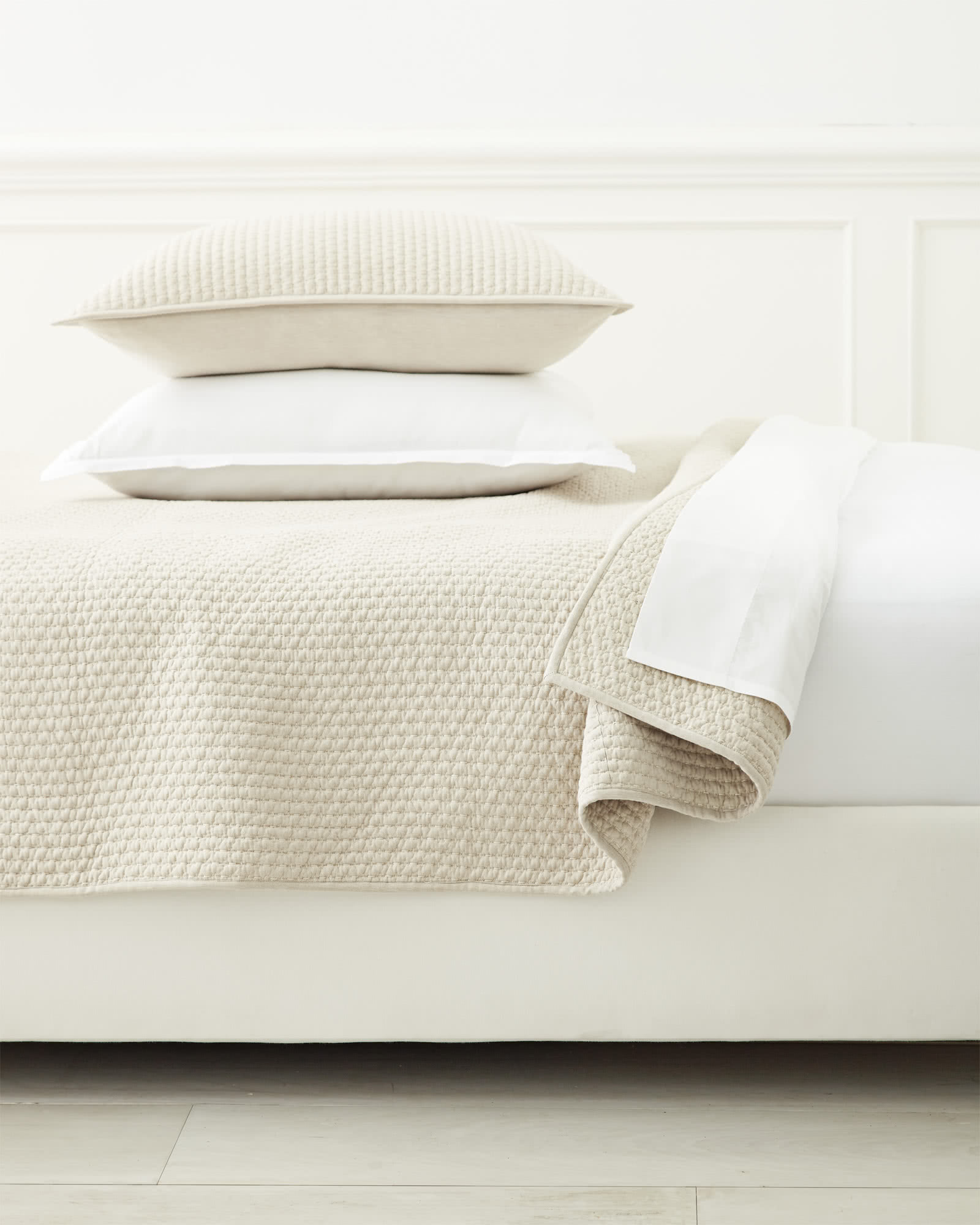 Westwood Quilted Shams, Oatmeal