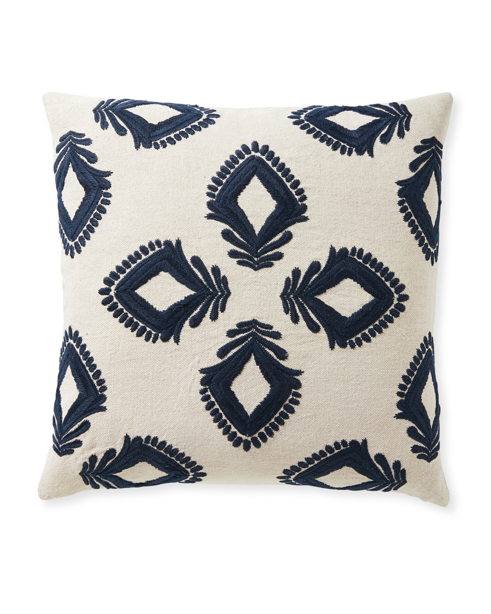 Leighton Pillow Cover, Sand/Navy