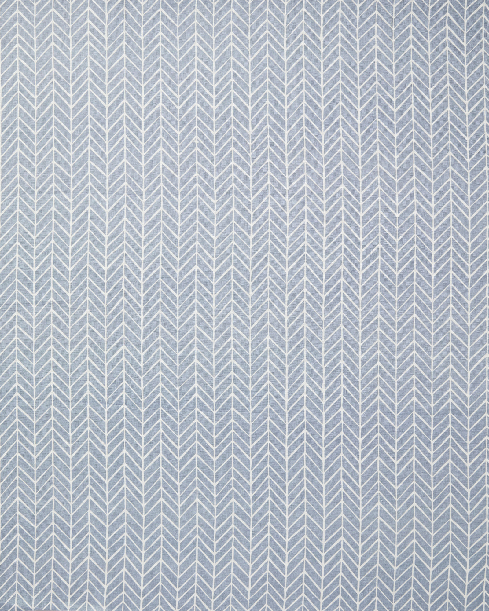 Fabric by the Yard - Herringbone Linen, Coastal Blue