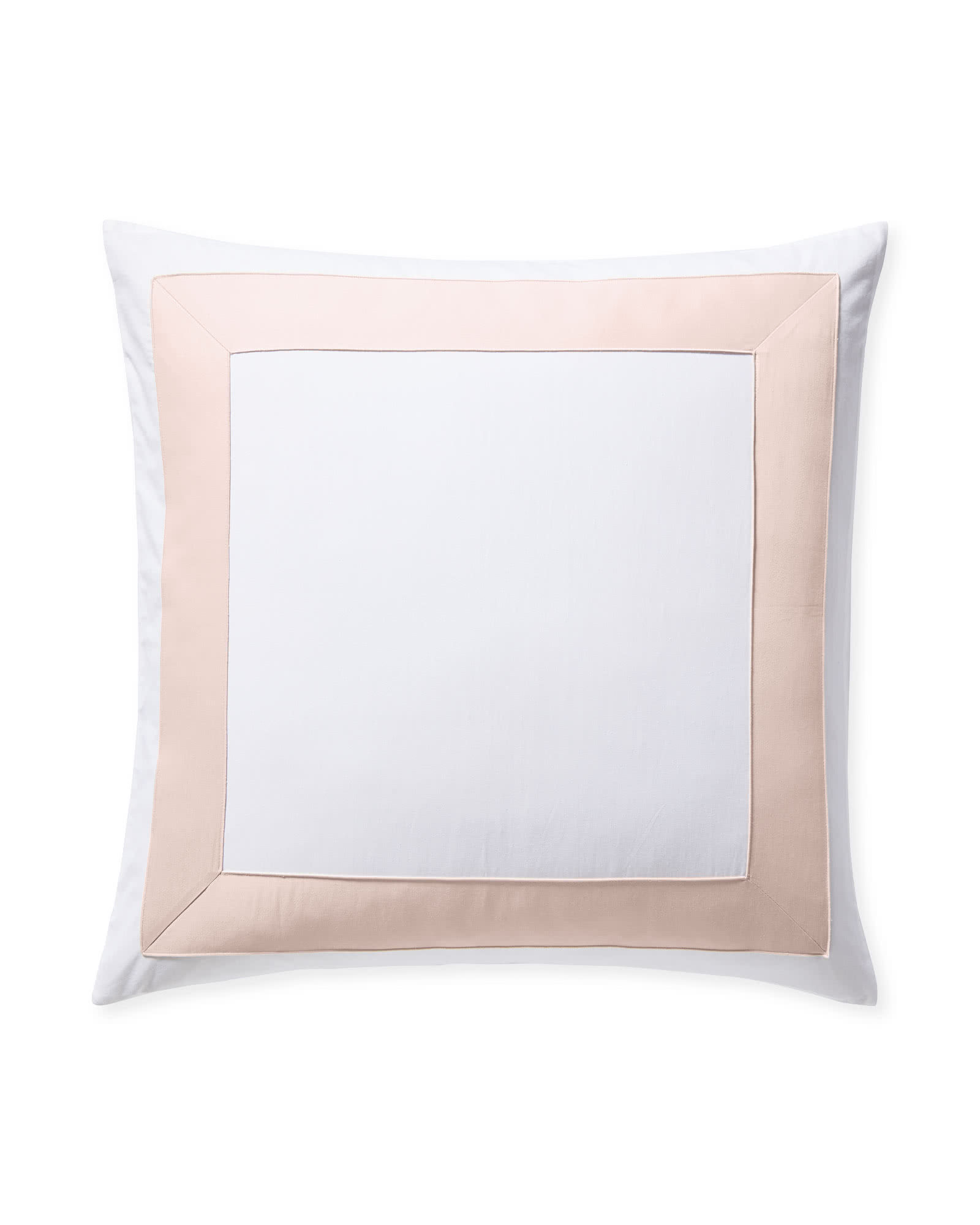 Beach Club Border Shams - Pink Sand,