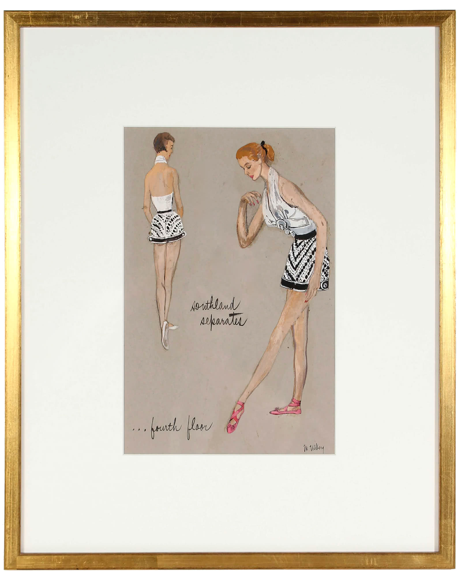 Mixed Media Fashion Design by Marjorie Ullberg,