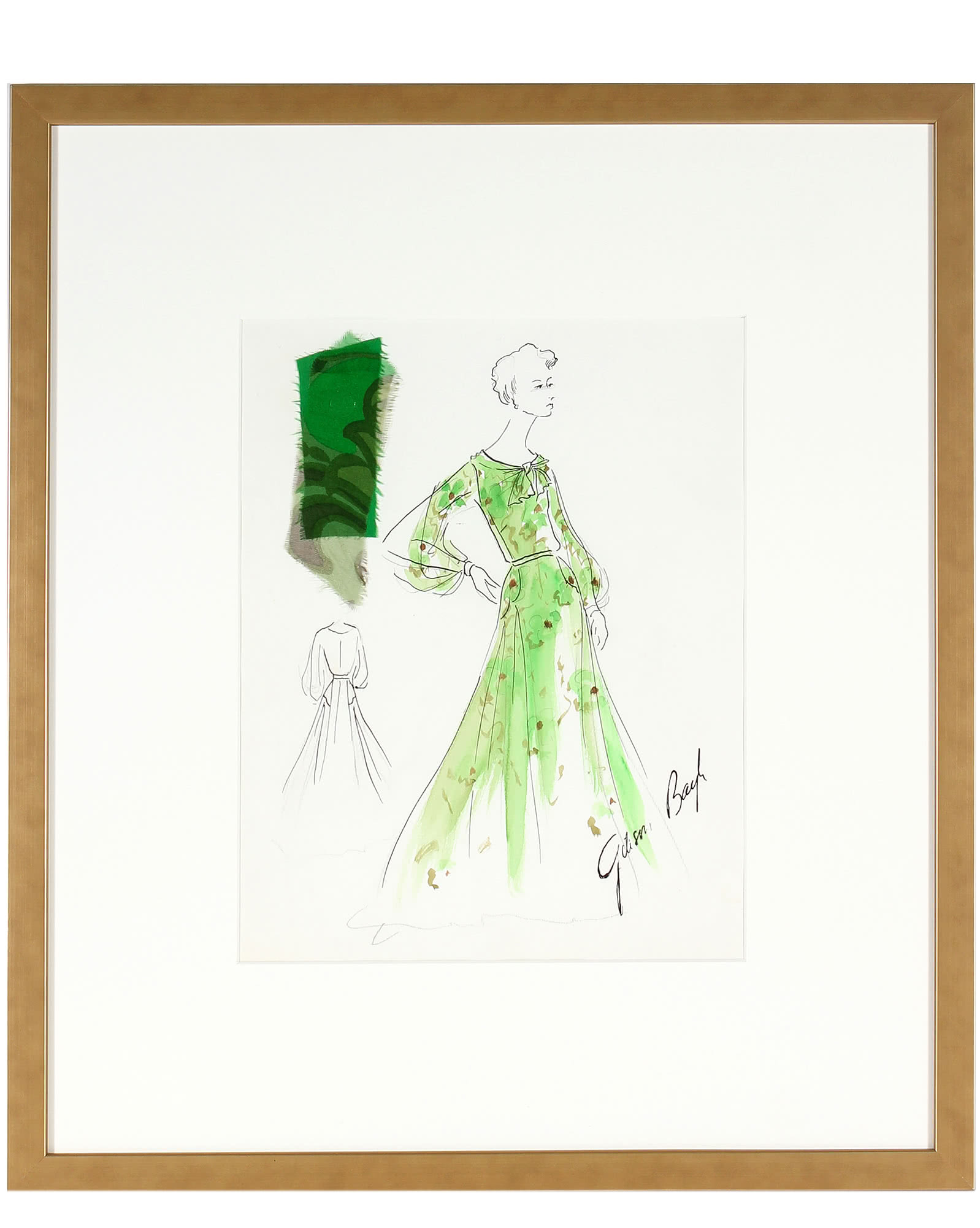 """""""Lime Green Sheer Dress""""  by Gibson Bayh,"""