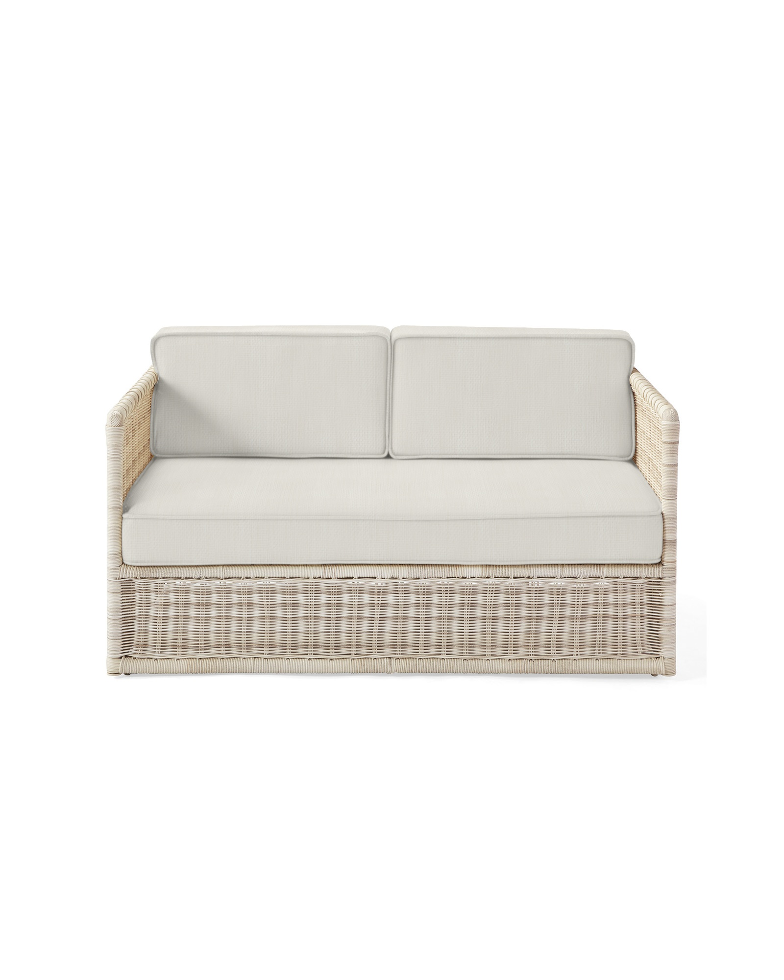 Cushion Cover for Pacifica Loveseat, Perennials Basketweave Chalk