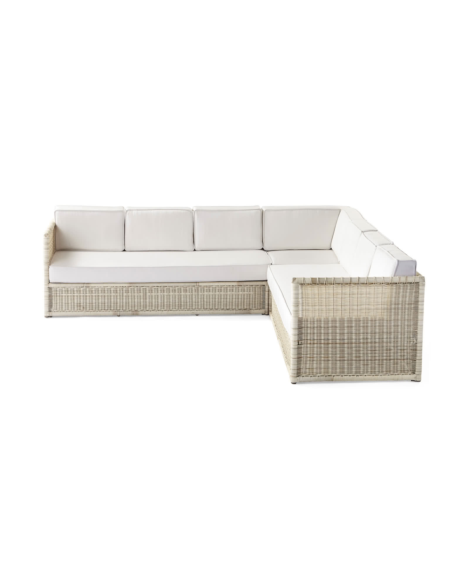 Pacifica Corner Sectional - Driftwood, White Cushion