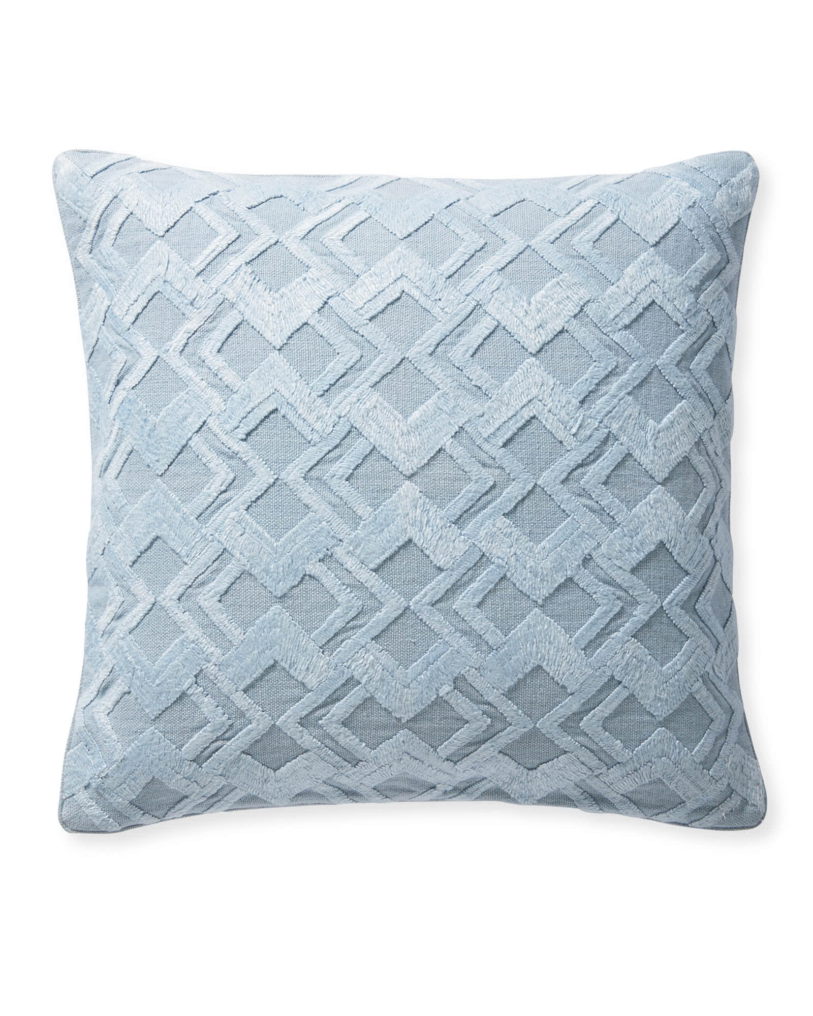 Paige Pillow Cover, Coastal Blue