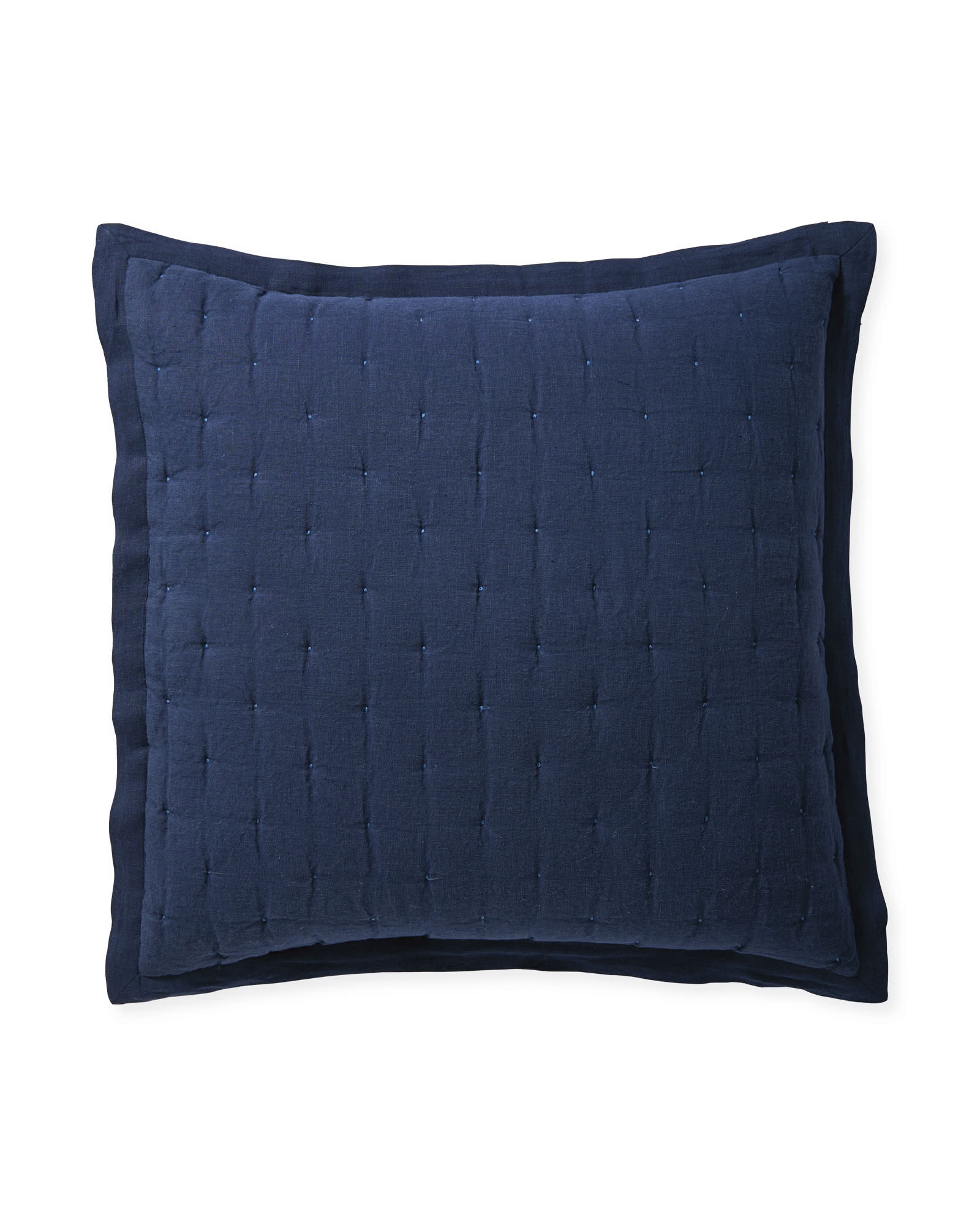 Sutter Quilted Shams, Navy