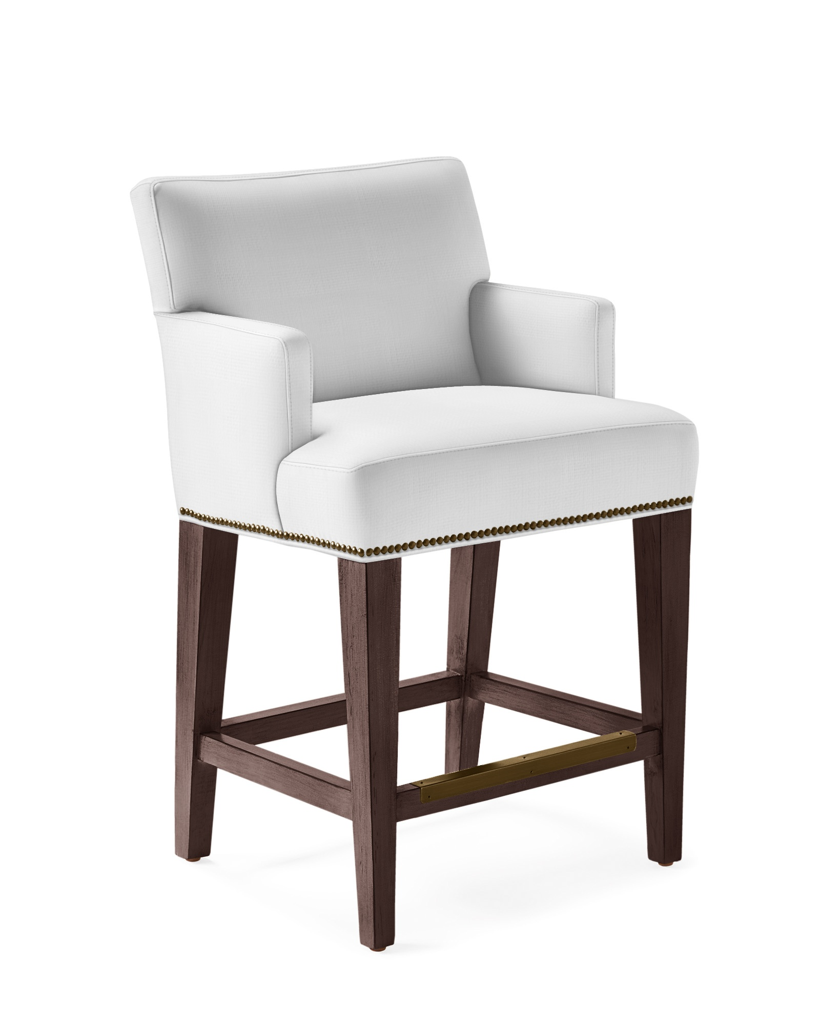 Ross Armed Counter Stool with Nailheads,