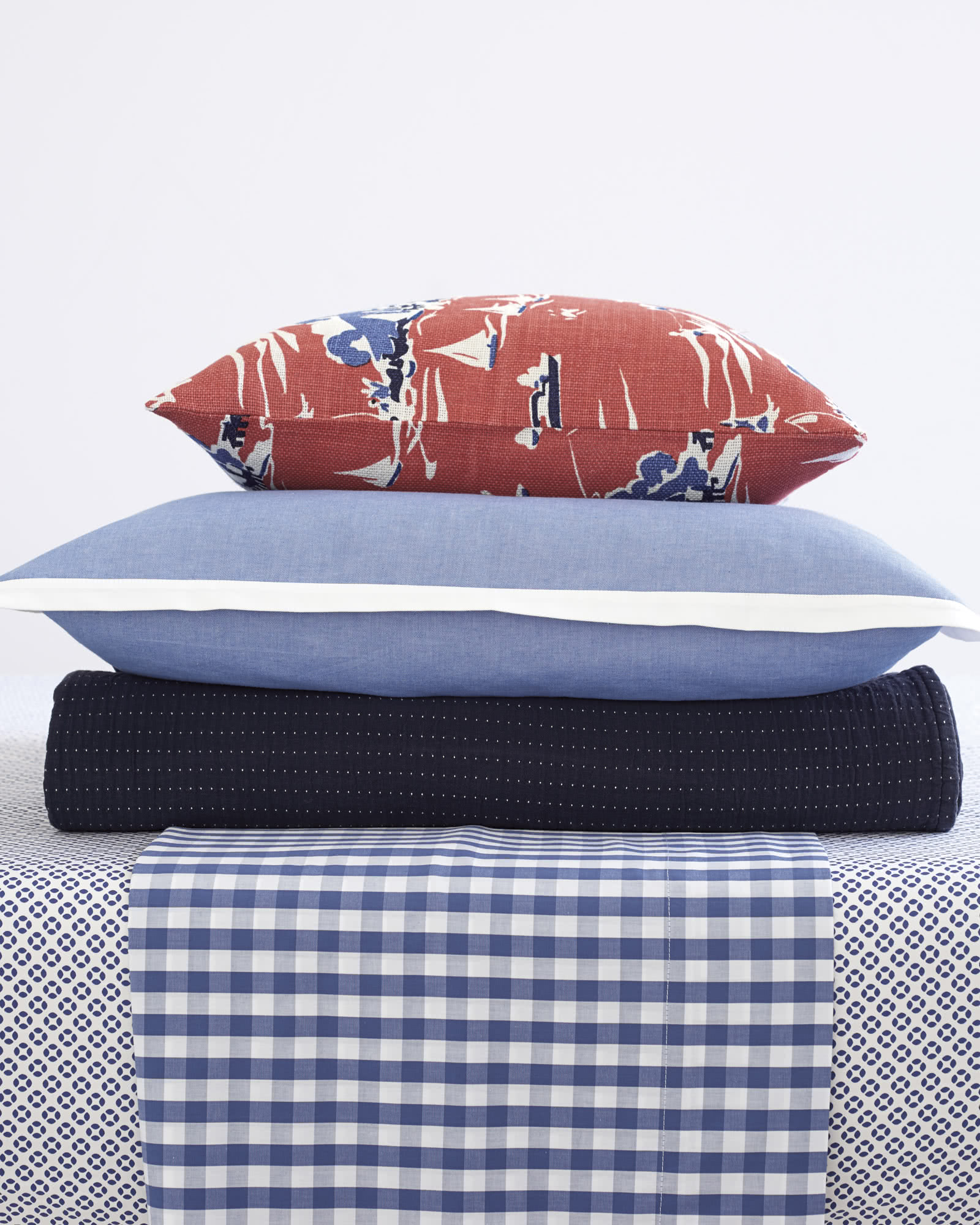 Gingham Mix – Navy,