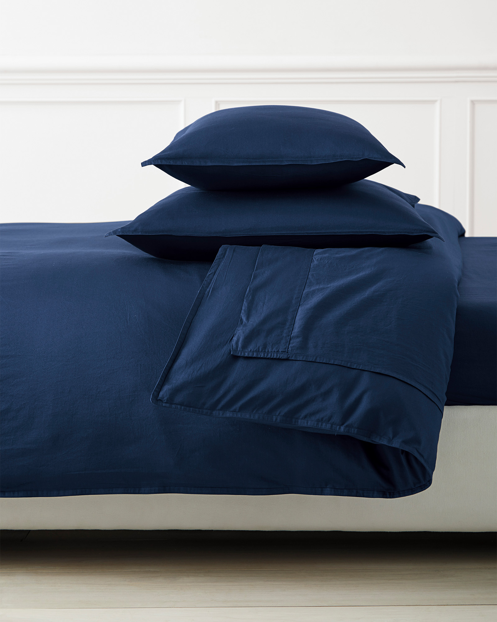 Sorrento Washed Sateen Duvet Cover, Navy