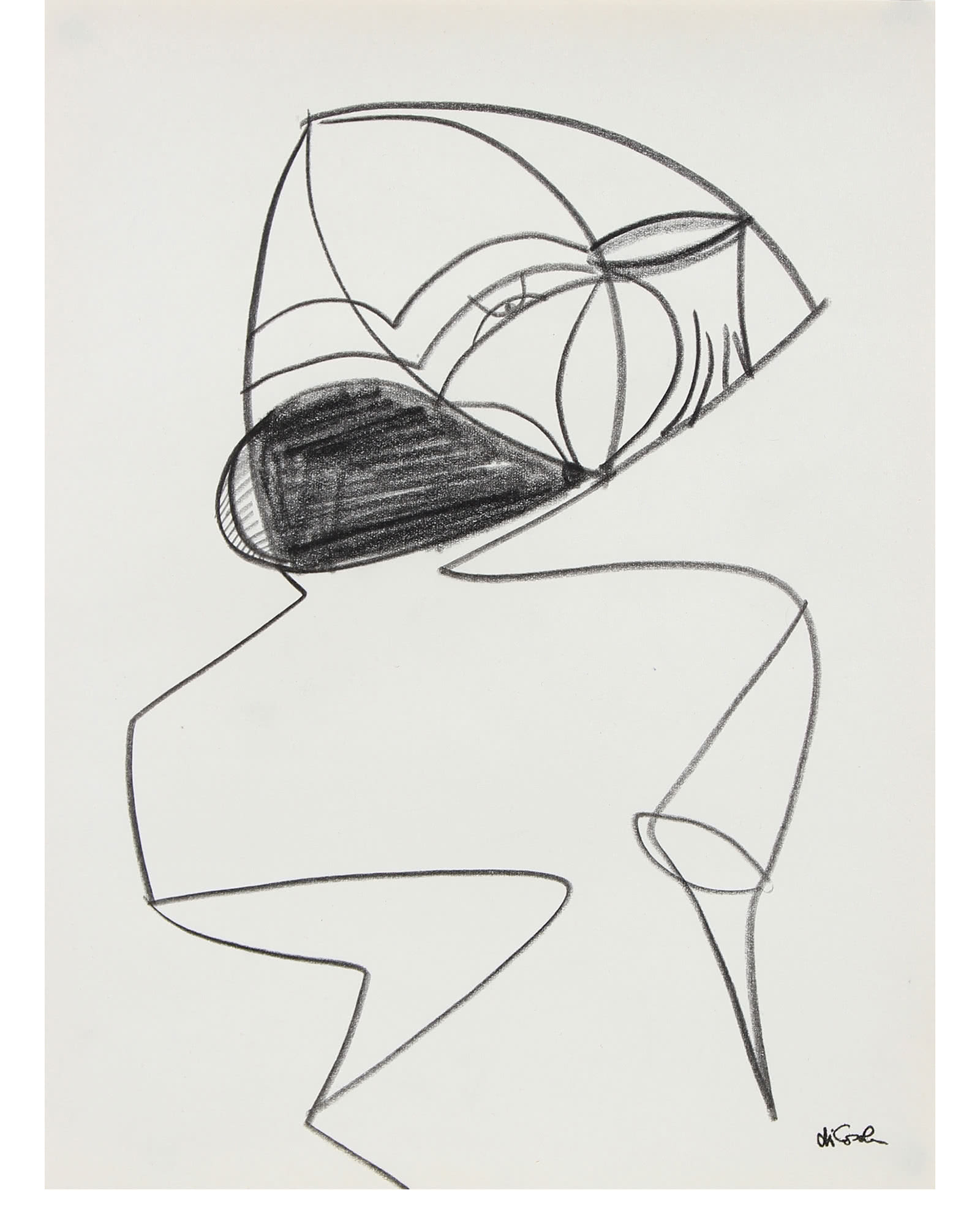 """Modernist Abstract Line Drawing"" by Michael di Cosola,"